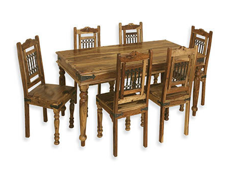 Wooden Dining For Trendy Sheesham Wood Dining Tables (View 10 of 20)