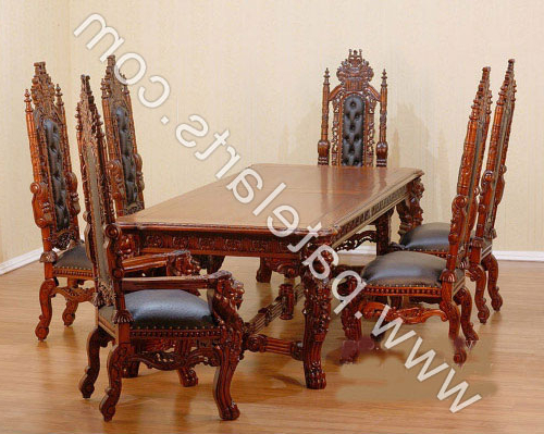 Wooden Dining Set, Wooden Carved Dining Table, Wooden Carved Dining Inside Widely Used Indian Dining Chairs (View 20 of 20)