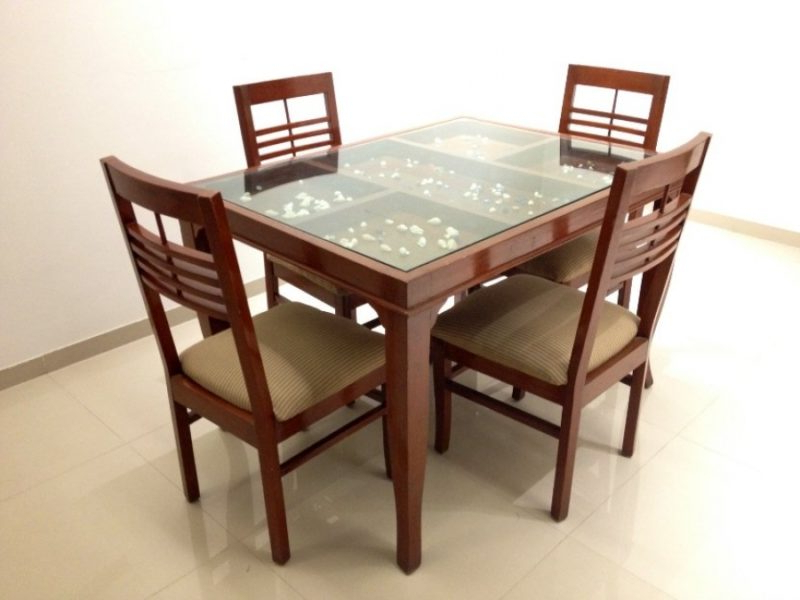Wooden Glass Dining Tables Regarding Popular Dining Tables With Glass And Wood – Glass Decorating Ideas (View 19 of 20)