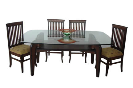 Wooden Glass Dining Tables With Regard To Widely Used Square Dining Table Teak Wood Glass Top At Rs 24390 /piece (View 4 of 20)