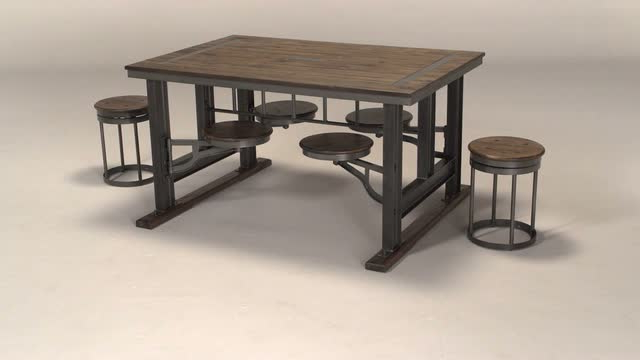 World Market Pertaining To Dining Tables With Attached Stools (View 2 of 20)