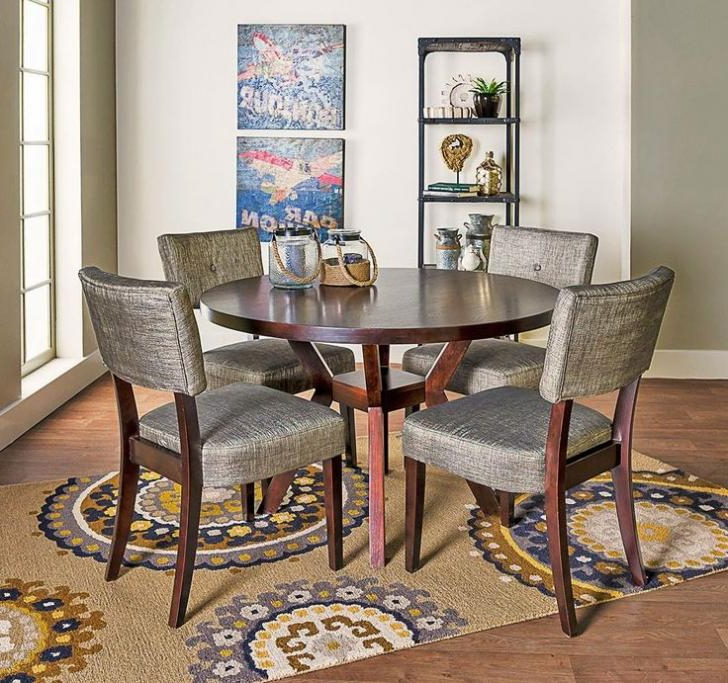 Featured Photo of Macie 5 Piece Round Dining Sets