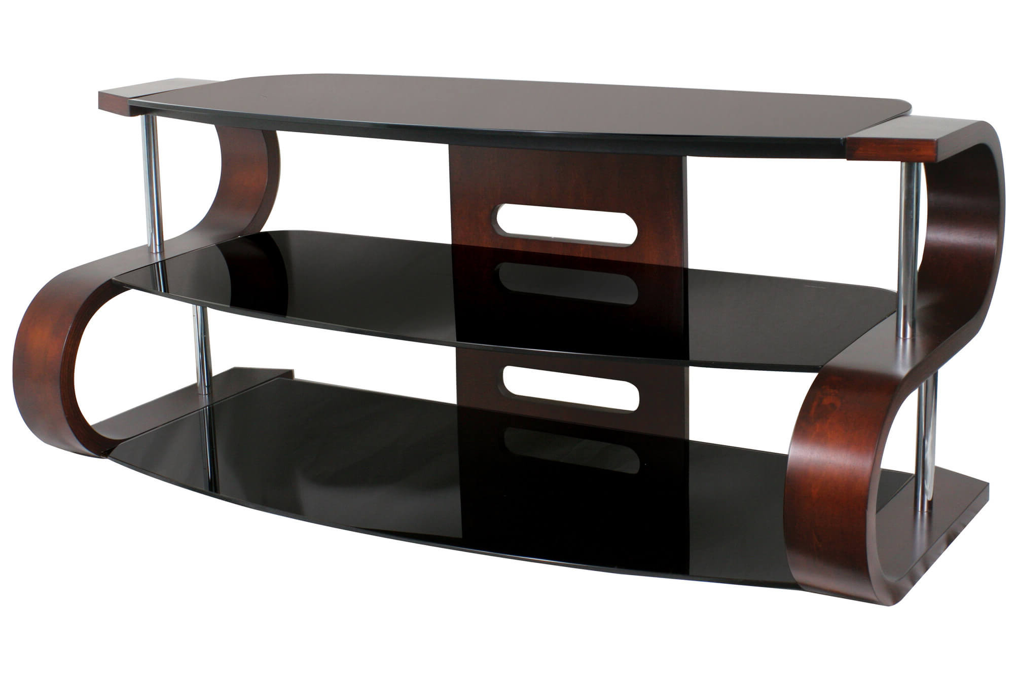16 Types Of Tv Stands (Comprehensive Buying Guide) Inside Gunmetal Media Console Tables (View 1 of 20)