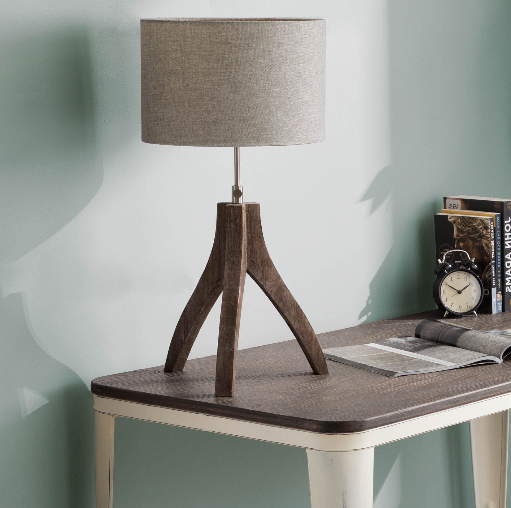 "17 Stories Adelmo 25"" Tripod Table Lamp 
