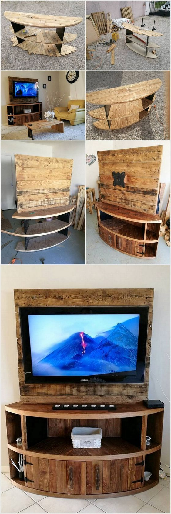 21+ Diy Tv Stand Ideas For Your Weekend Home Project Regarding Tobias Media Console Tables (Gallery 13 of 20)