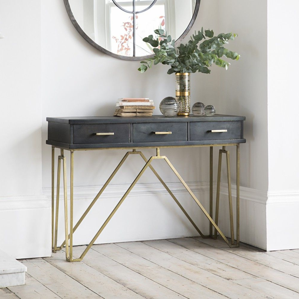 27 Gorgeous Entryway – Entry Table Ideas Designed With Every Style Throughout Natural Wood Mirrored Media Console Tables (View 3 of 20)