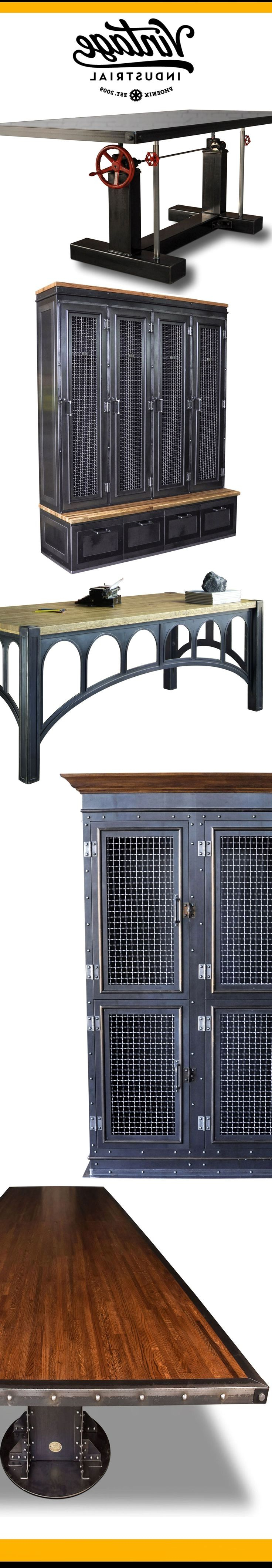 39 Best Autobahn Furniture Images On Pinterest | Industrial Intended For Parsons Walnut Top & Brass Base 48x16 Console Tables (View 20 of 20)