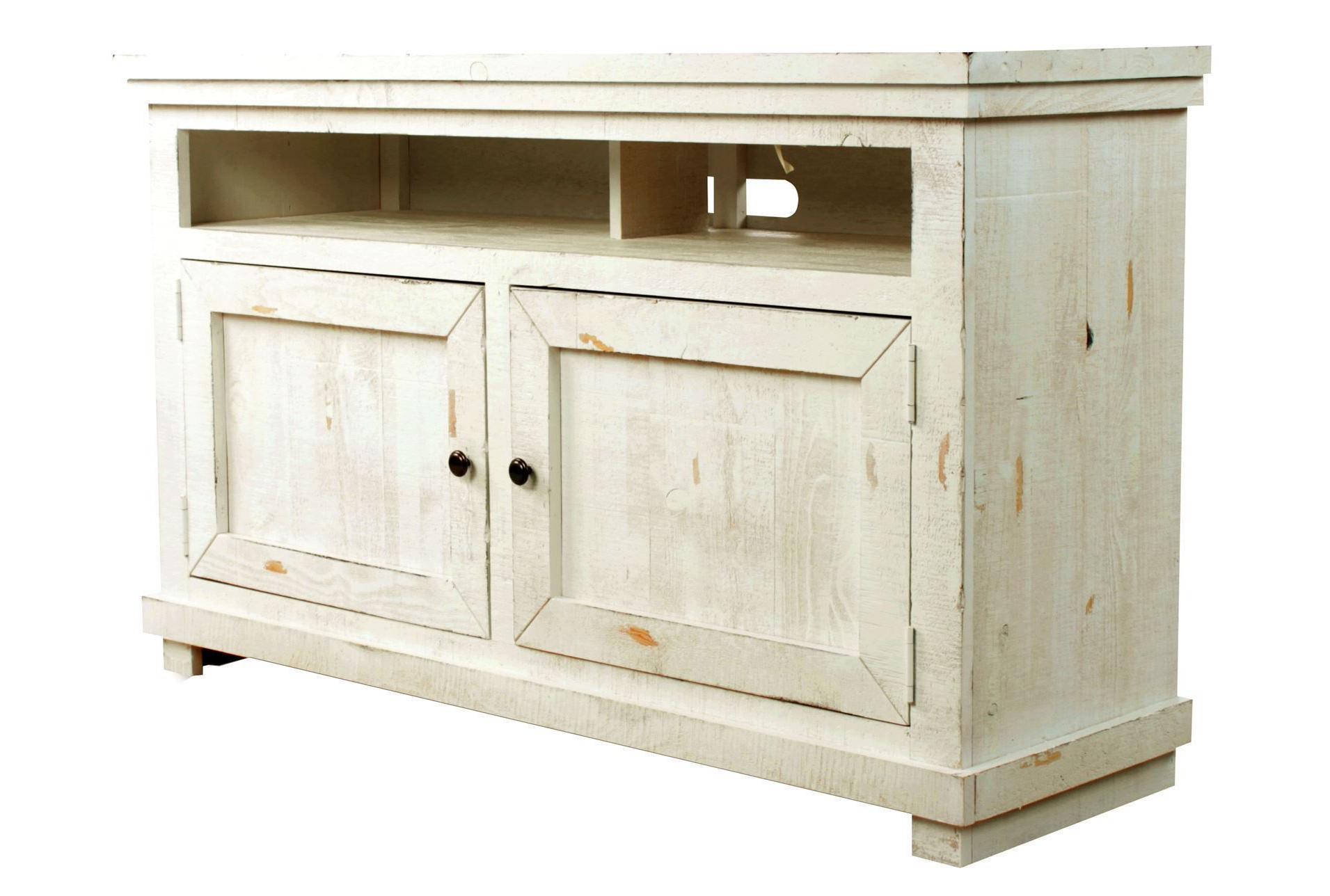 54 Inch Tv Stand, Sinclair White, Weathered White | Consoles, Tv Inside Sinclair White 64 Inch Tv Stands (View 2 of 20)