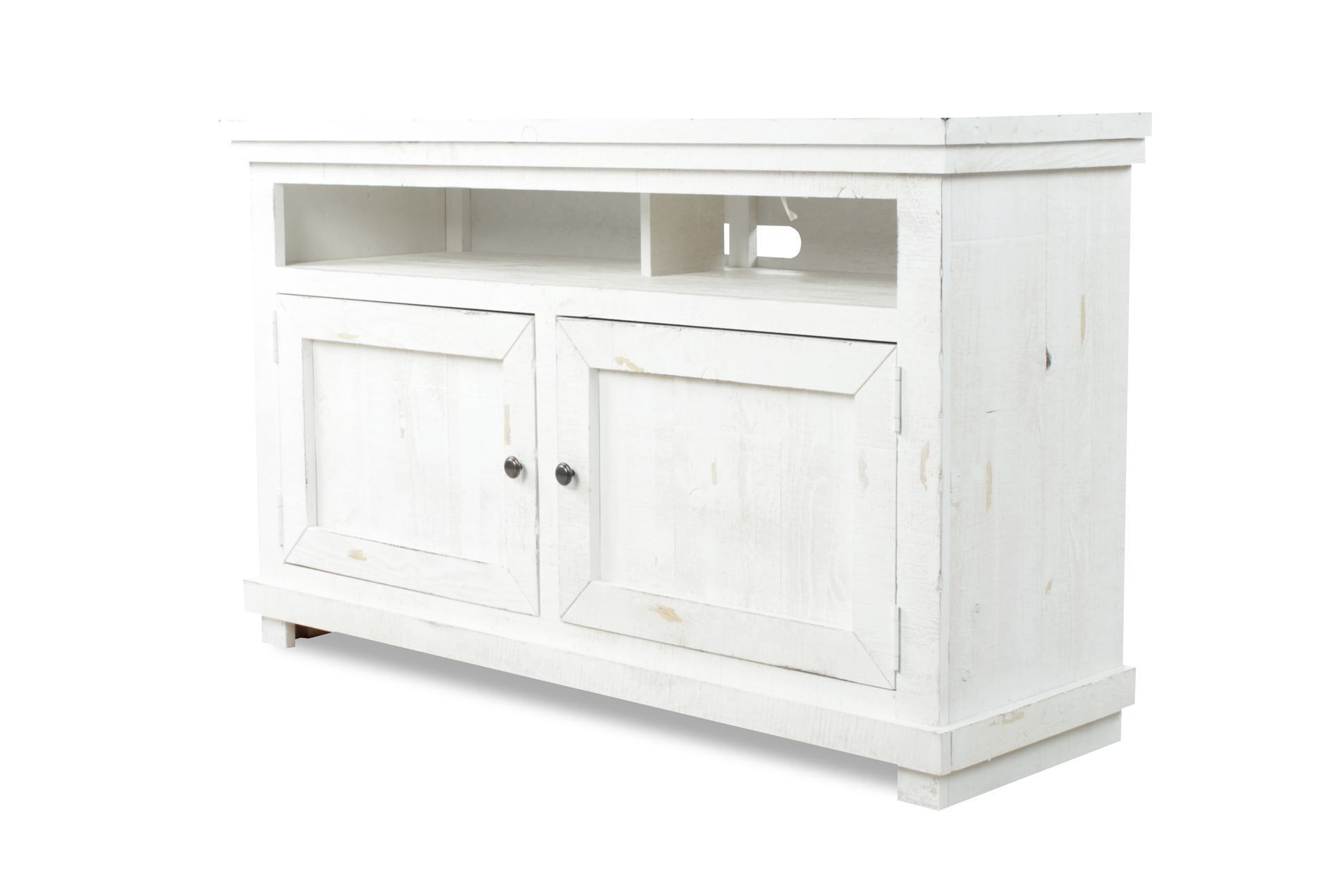54 Inch Tv Stand, Sinclair White, Weathered White | Consoles, Tv With Regard To Ducar 84 Inch Tv Stands (View 17 of 20)