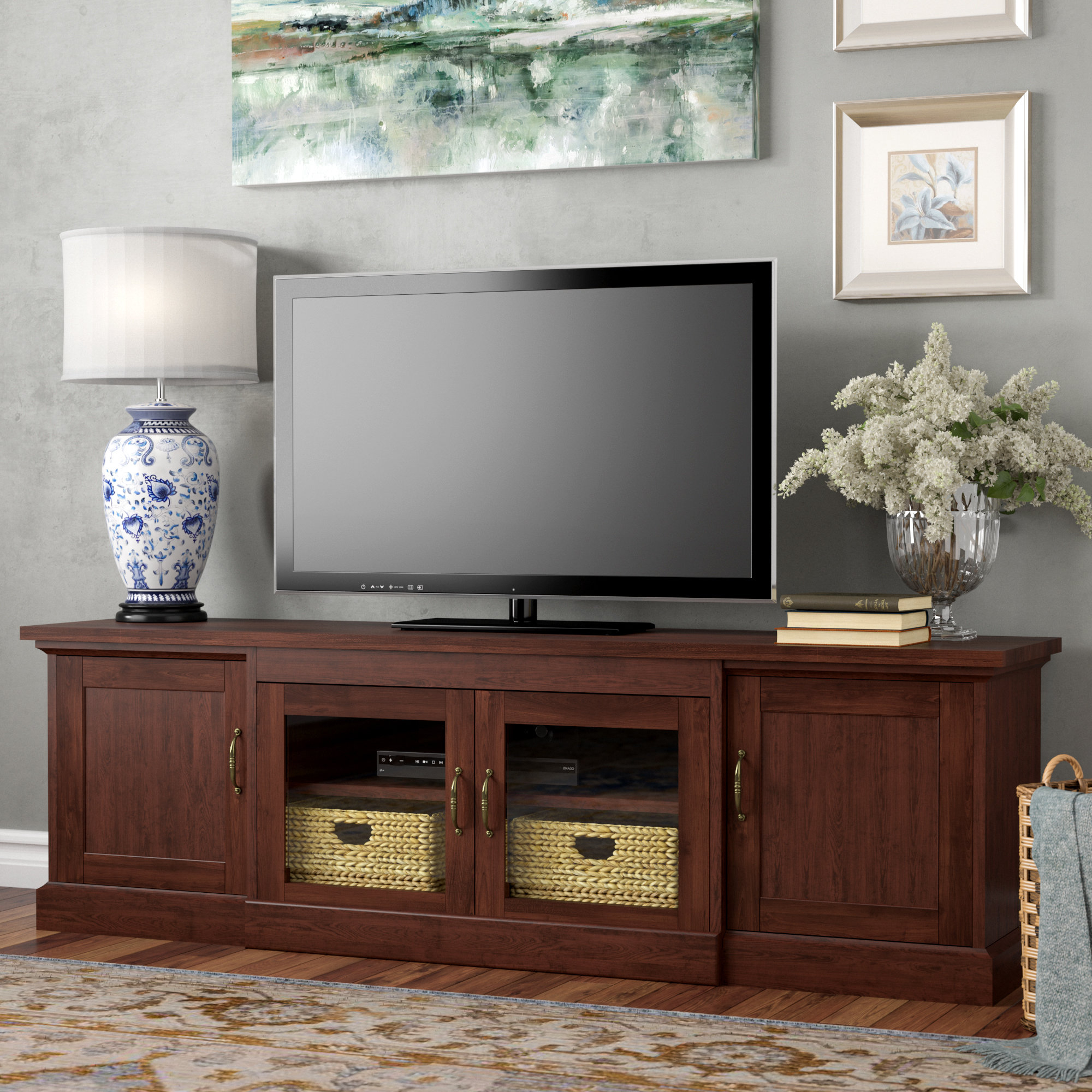 60 69 Inches Tv Stands | Birch Lane In Edwin Grey 64 Inch Tv Stands (View 4 of 20)