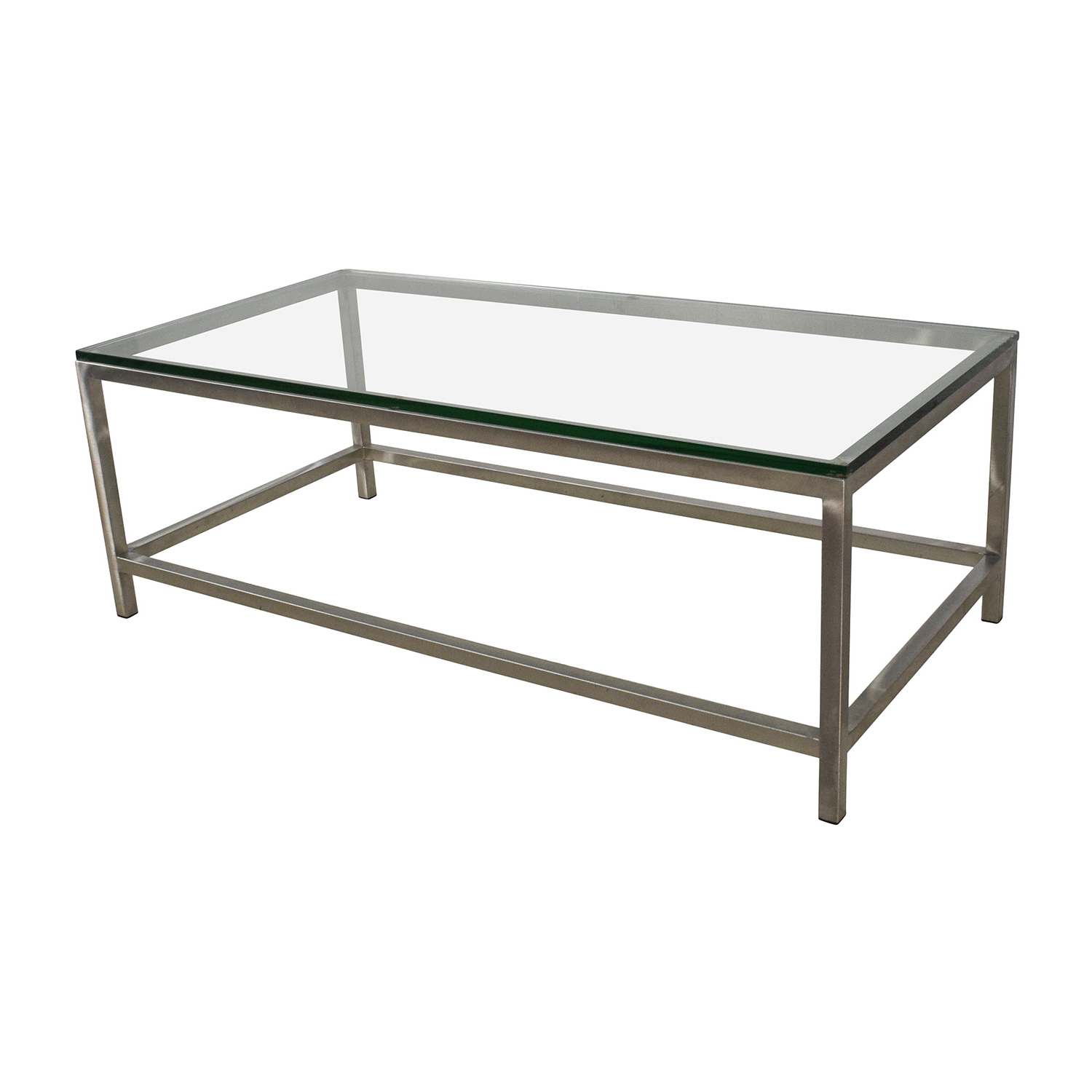 64% Off – Crate And Barrel Crate & Barrel Era Rectangular Glass Top For Era Glass Console Tables (Gallery 16 of 20)