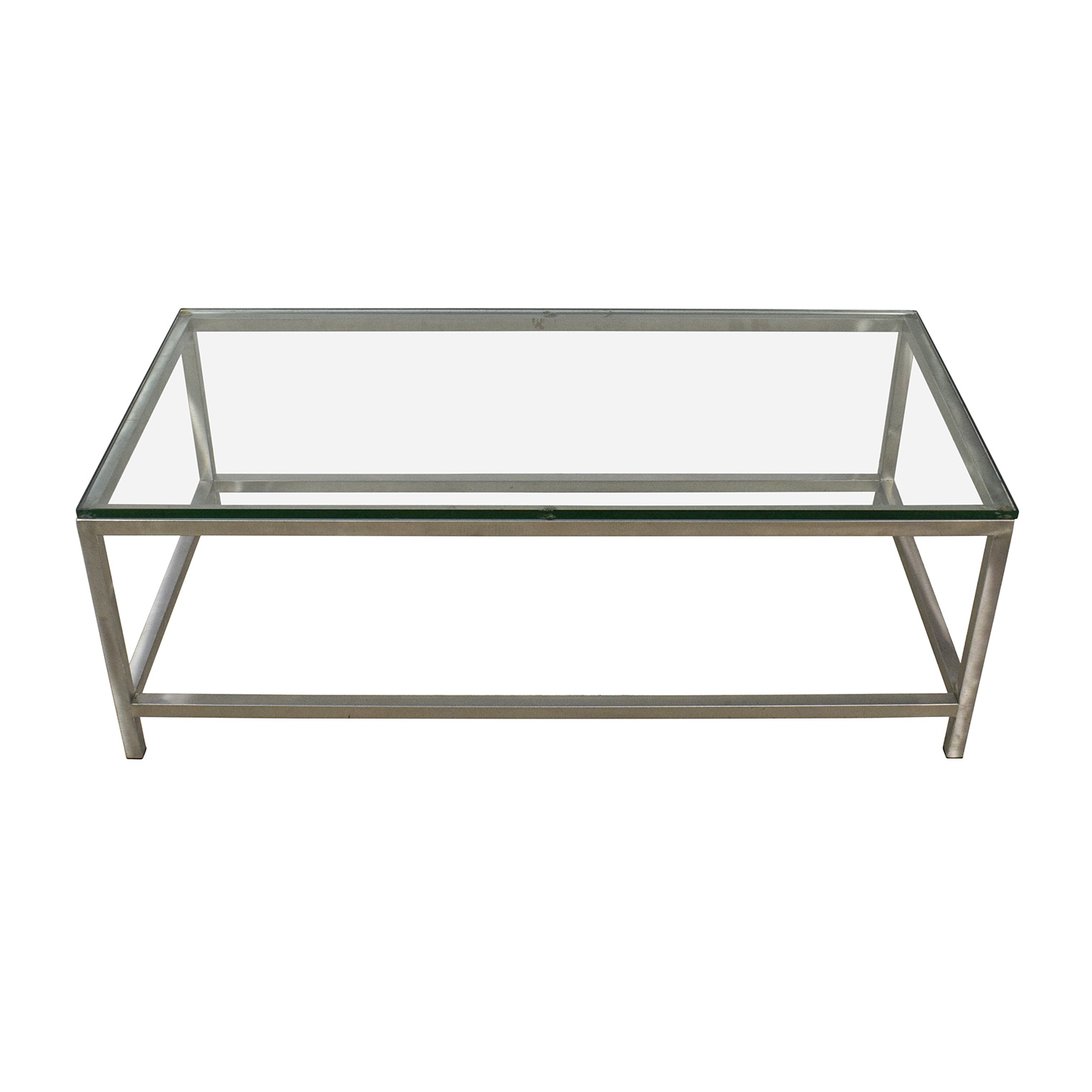 64% Off – Crate And Barrel Crate & Barrel Era Rectangular Glass Top Within Era Glass Console Tables (View 4 of 20)