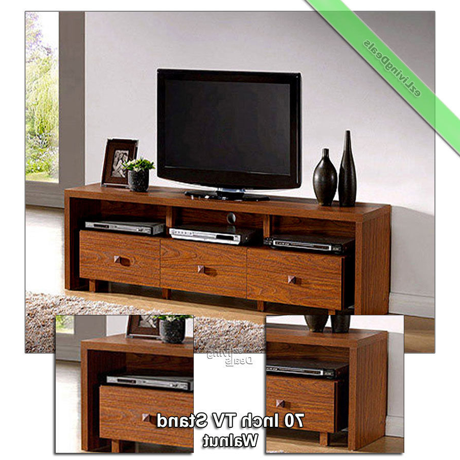 70 Inch Tv Stand Entertainment Media Console Table Stands Console Throughout Annabelle Black 70 Inch Tv Stands (View 12 of 20)
