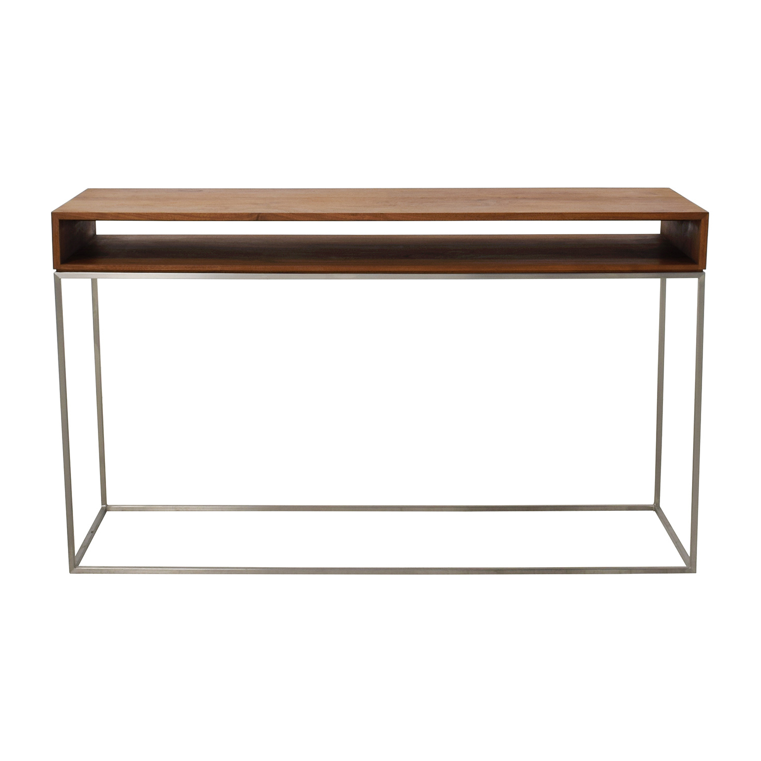 70% Off – Cb2 Cb2 Wood And Metal Frame Console Table / Tables Within Frame Console Tables (View 1 of 20)