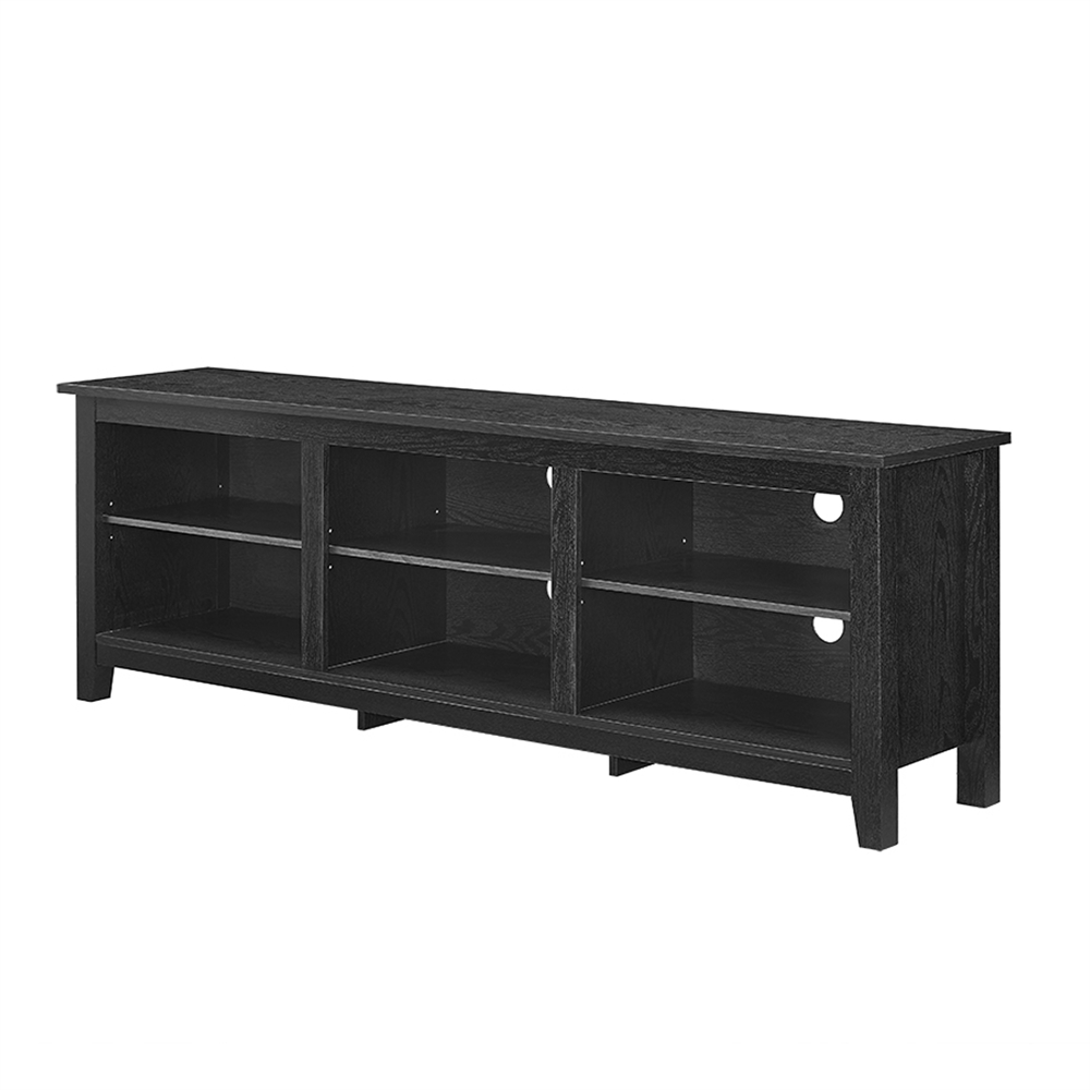 70quot Essentials Tv Stand Black Wrought Iron Console Table Pertaining To Annabelle Black 70 Inch Tv Stands (View 5 of 20)
