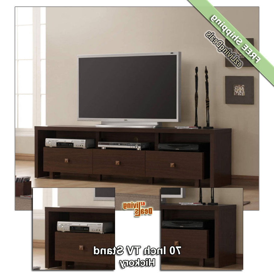 70Quot Tv Stand Entertainment Media Console Table Stands For Black In Annabelle Black 70 Inch Tv Stands (Gallery 8 of 20)