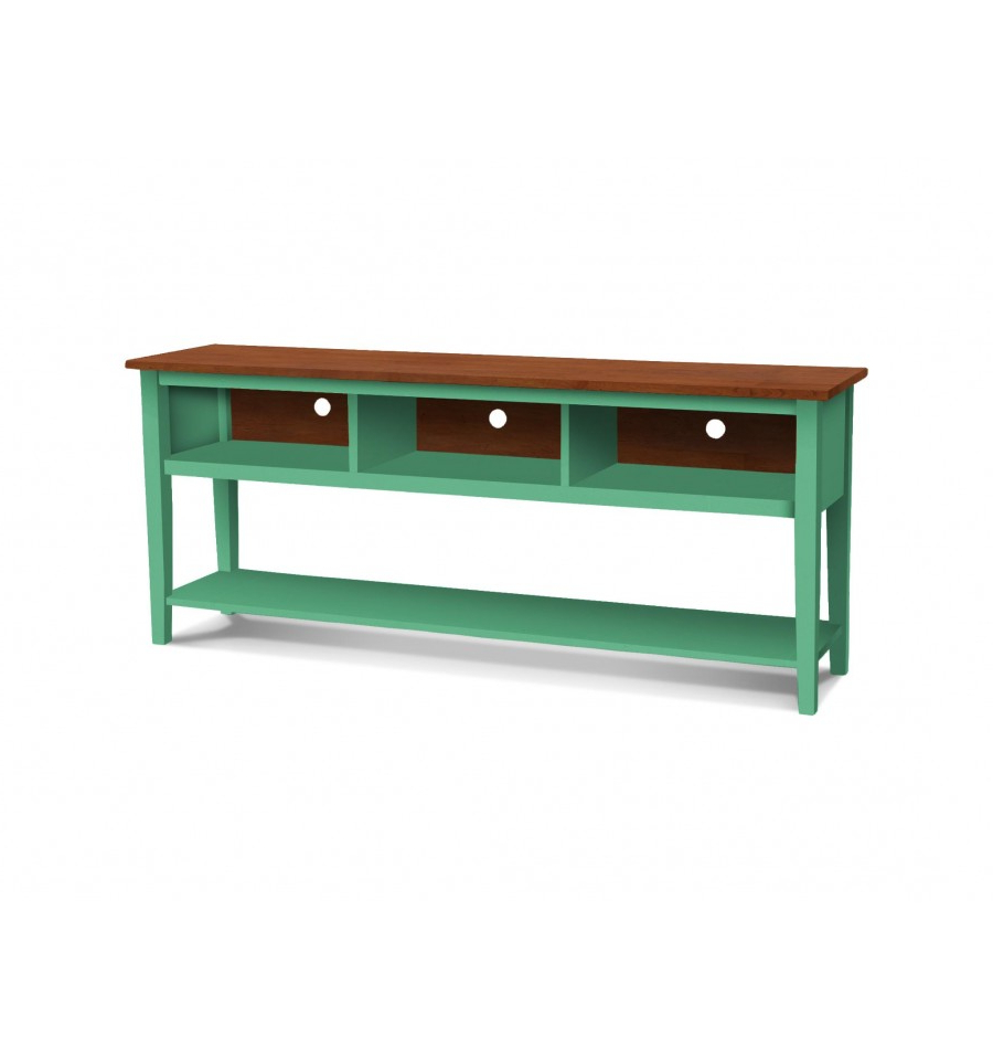 72 Inch] Shaker Open Tv Console – Simply Woods Furniture | Pensacola, Fl For Murphy 72 Inch Tv Stands (View 7 of 20)