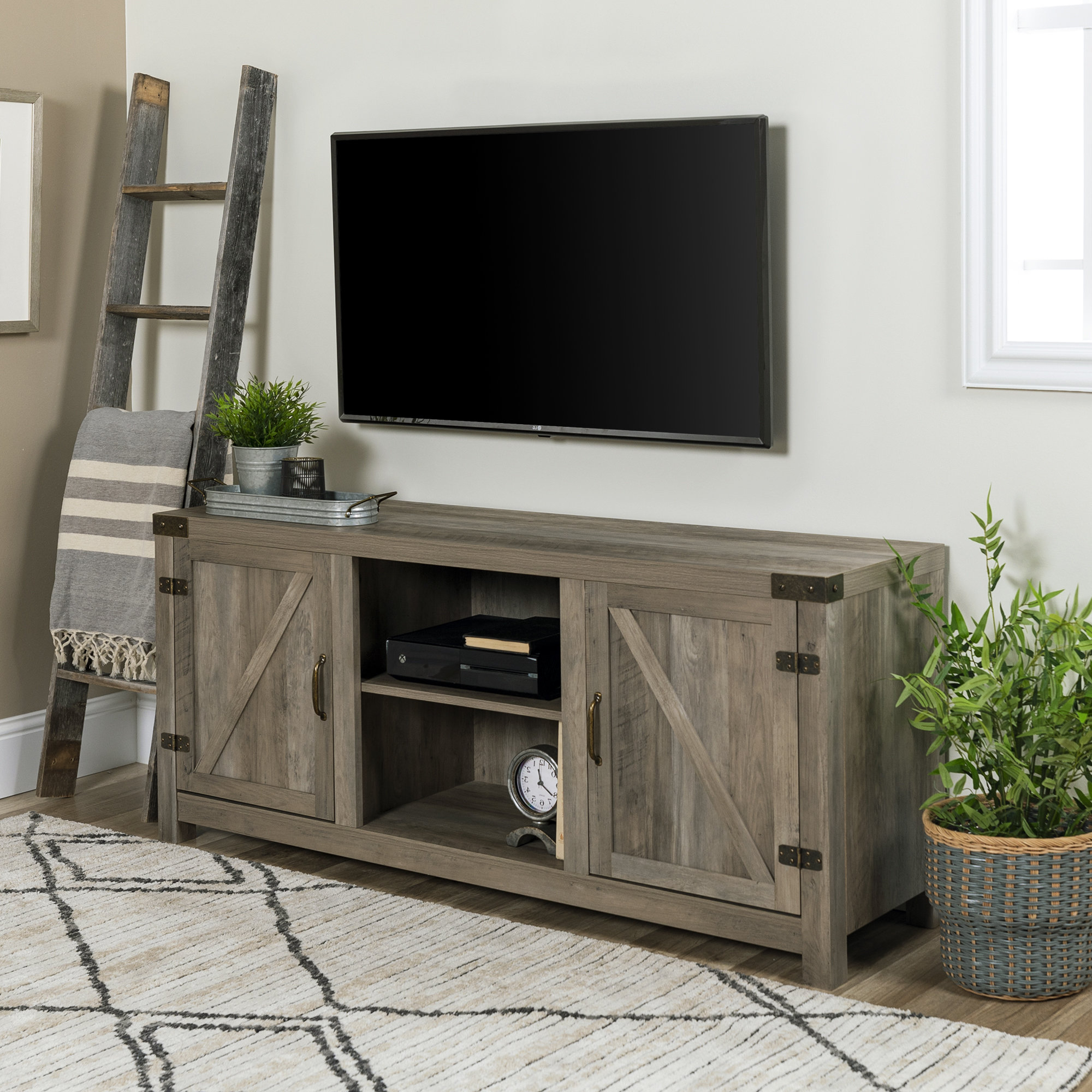 72 Inch Tv Stand | Wayfair Pertaining To Kenzie 60 Inch Open Display Tv Stands (View 3 of 20)