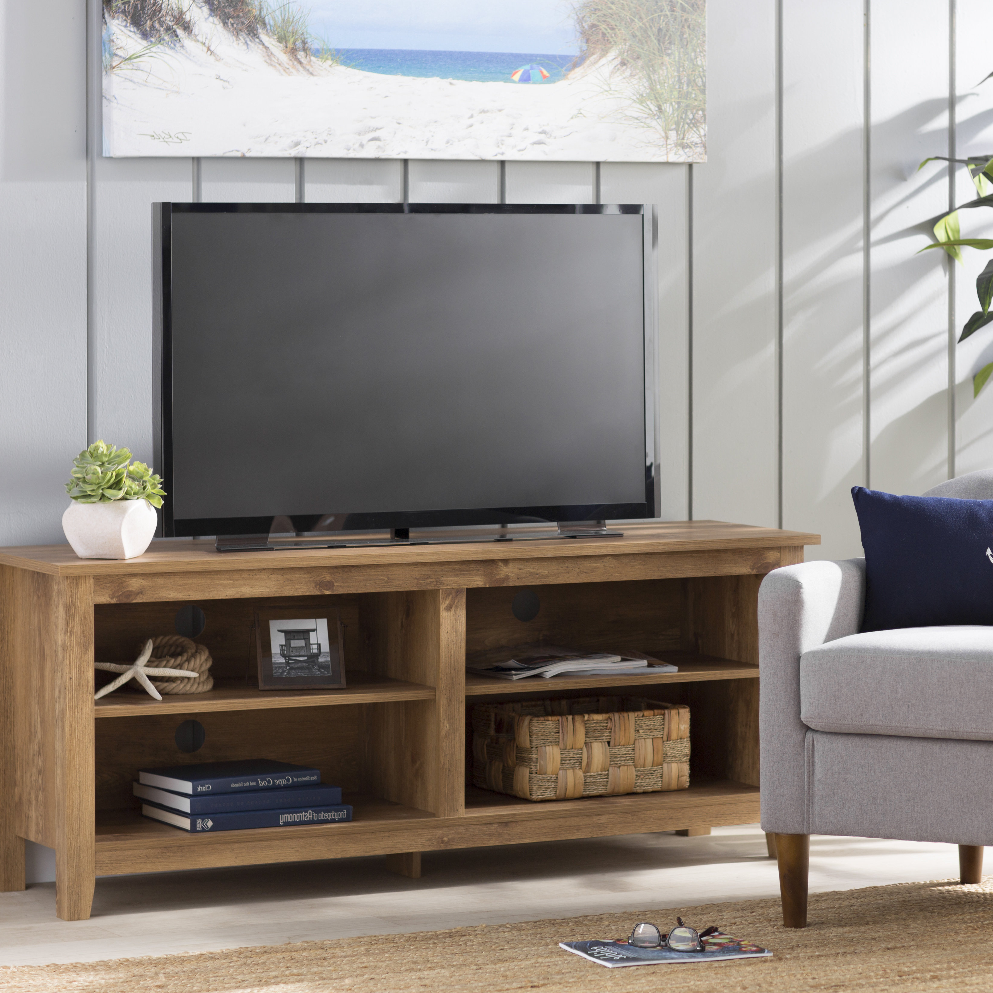 72 Inch Tv Stand | Wayfair Pertaining To Kenzie 72 Inch Open Display Tv Stands (View 4 of 20)