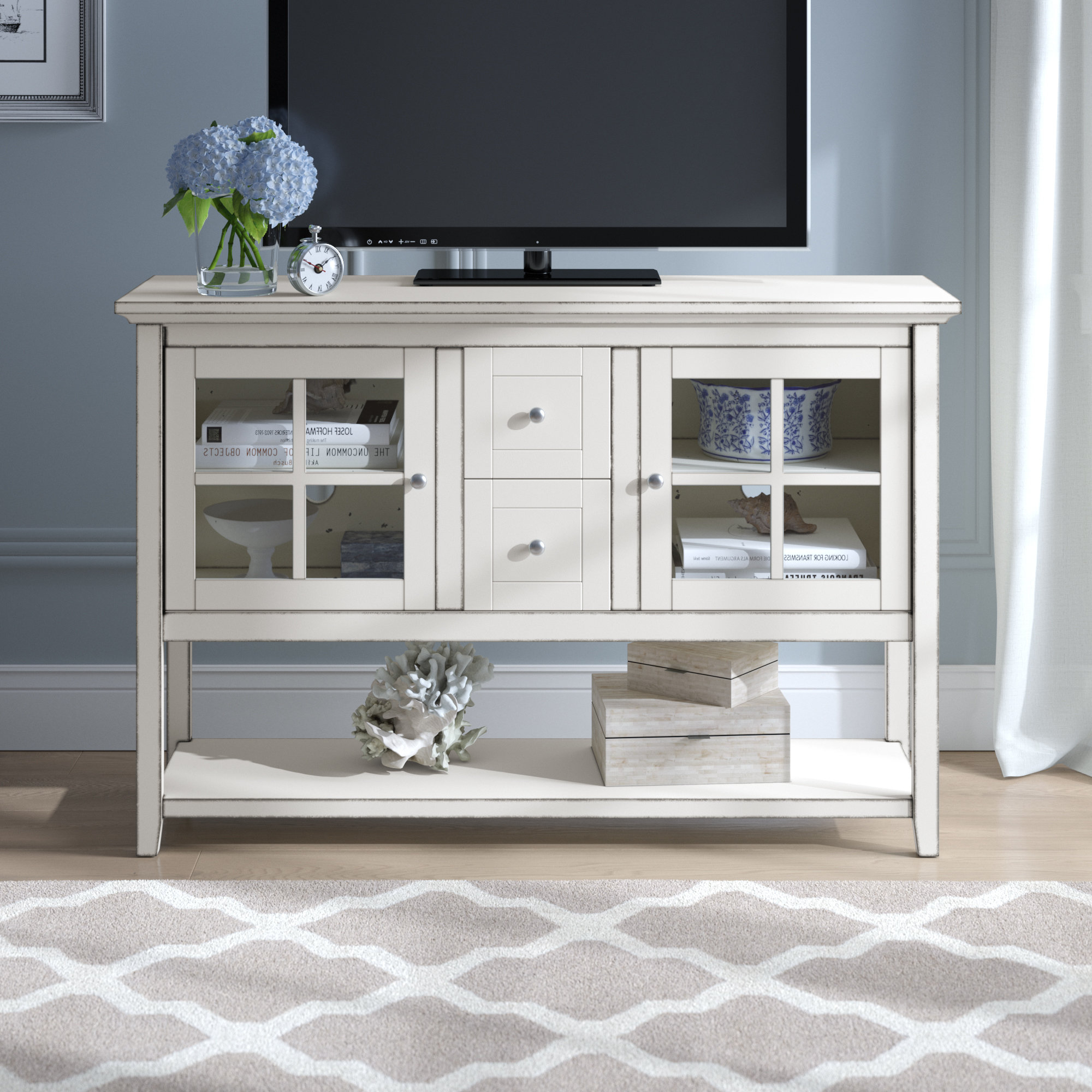 72 Inch Tv Stand | Wayfair Throughout Kenzie 60 Inch Open Display Tv Stands (View 12 of 20)