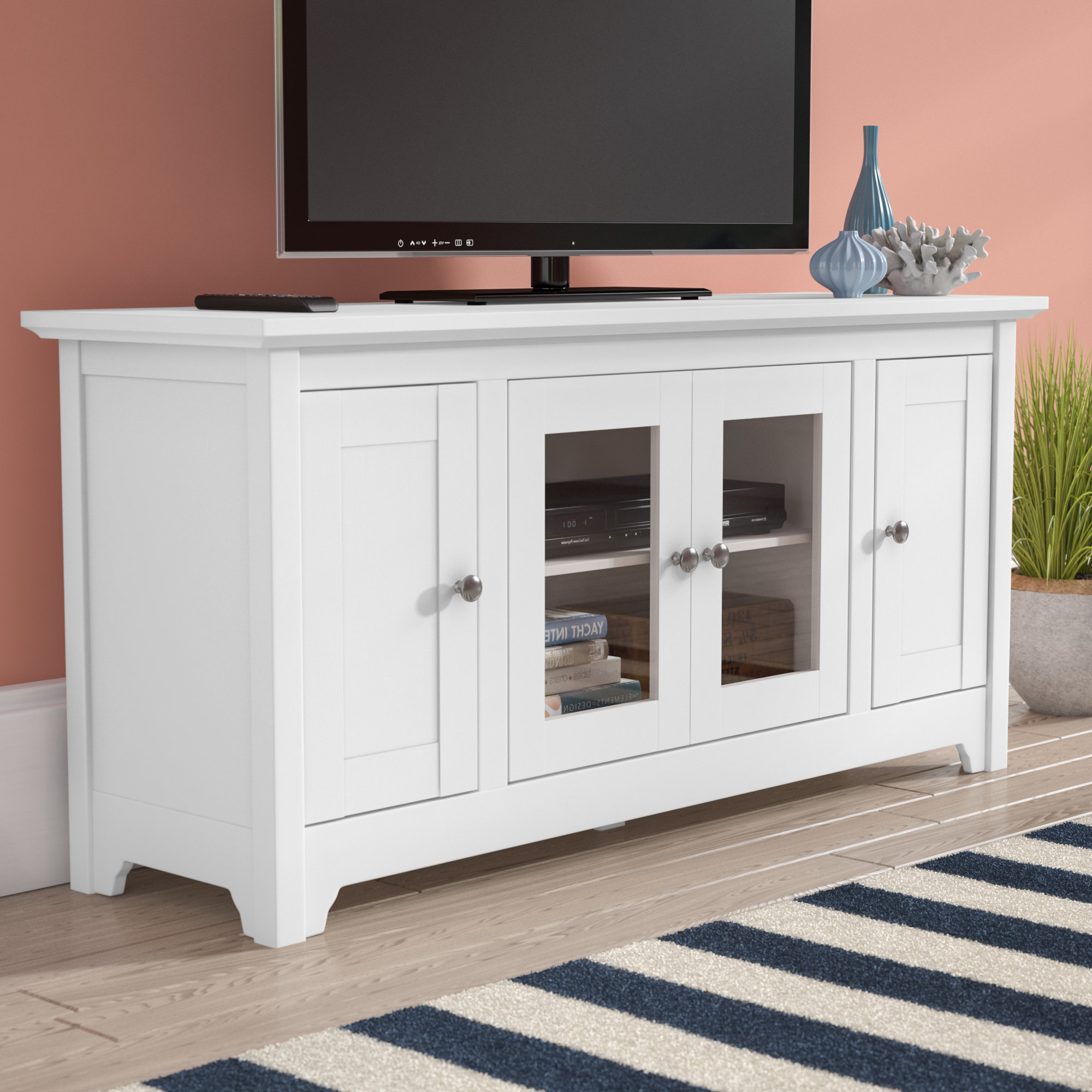 72 Inch Tv Stand | Wayfair Throughout Kenzie 72 Inch Open Display Tv Stands (View 6 of 20)