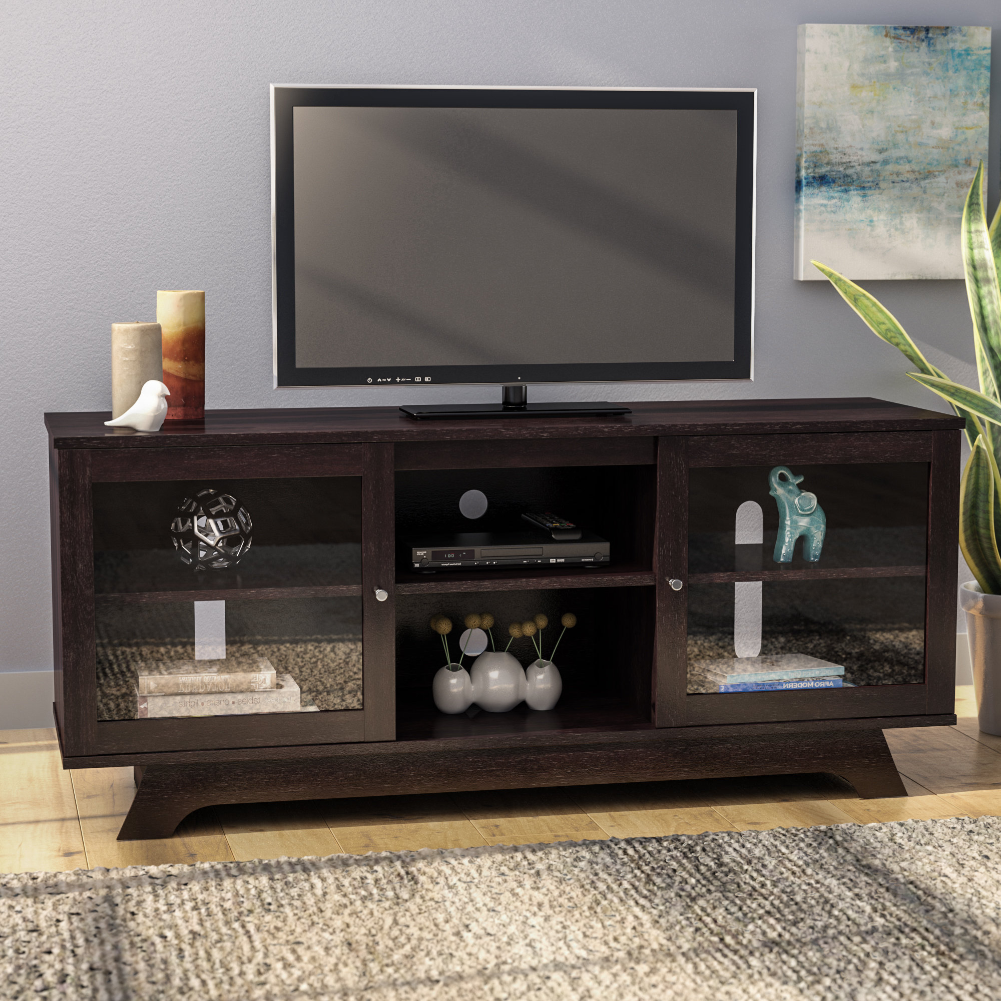 72 Inch Tv Stand | Wayfair Throughout Laurent 60 Inch Tv Stands (View 8 of 20)