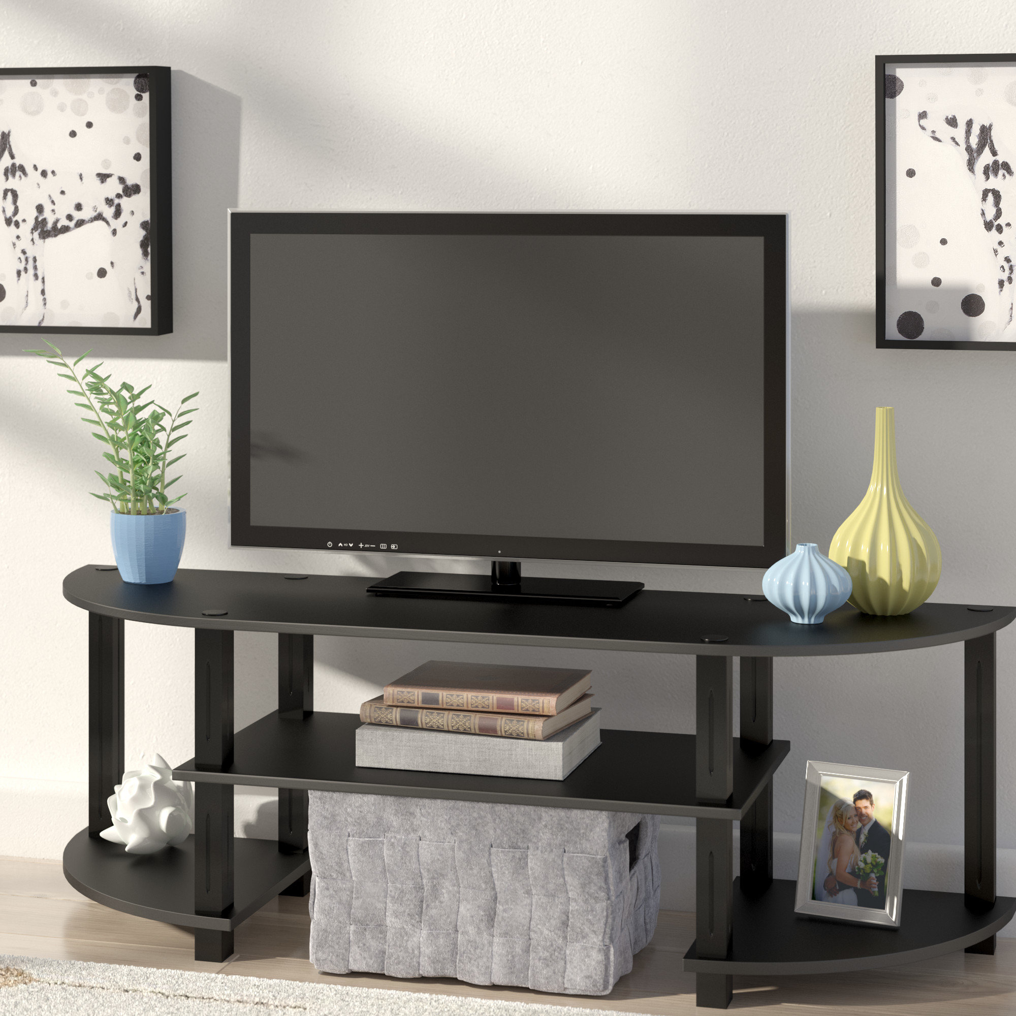 72 Inch Tv Stand | Wayfair With Regard To Kenzie 72 Inch Open Display Tv Stands (View 9 of 20)