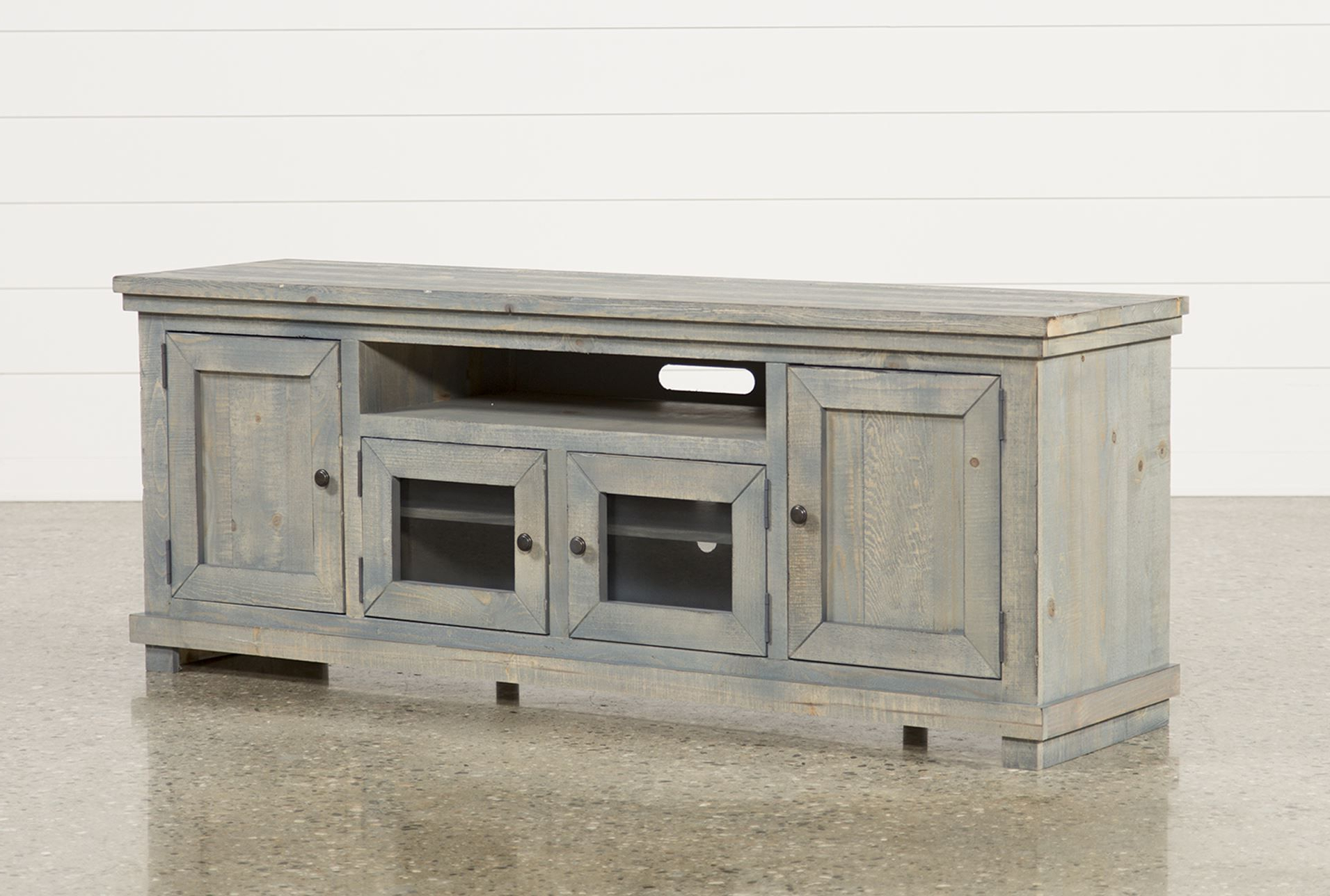 74 Inch Tv Stand, Sinclair Blue | Tv Stands, Consoles And Living Throughout Ducar 74 Inch Tv Stands (View 5 of 20)