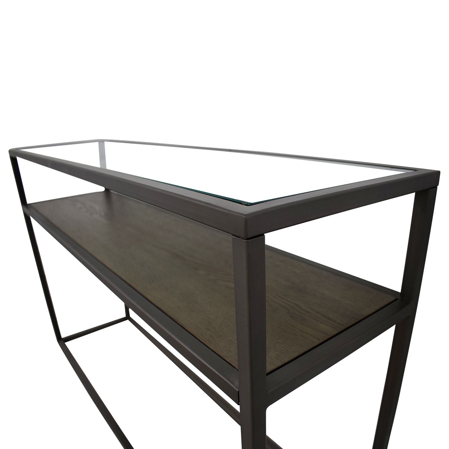 79% Off – Crate & Barrel Crate & Barrel Switch Glass Wood And Metal For Switch Console Tables (Gallery 9 of 20)