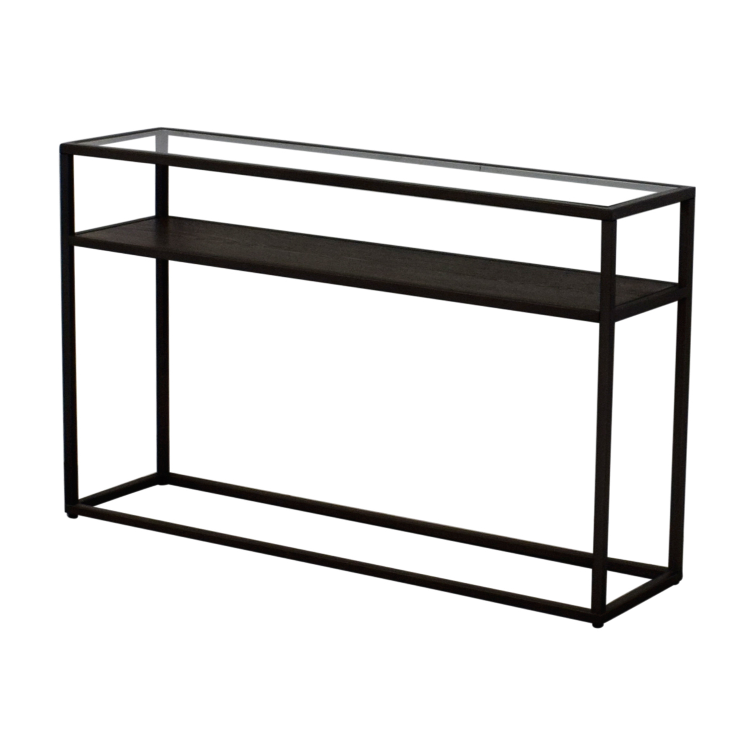 79% Off – Crate & Barrel Crate & Barrel Switch Glass Wood And Metal For Switch Console Tables (View 2 of 20)