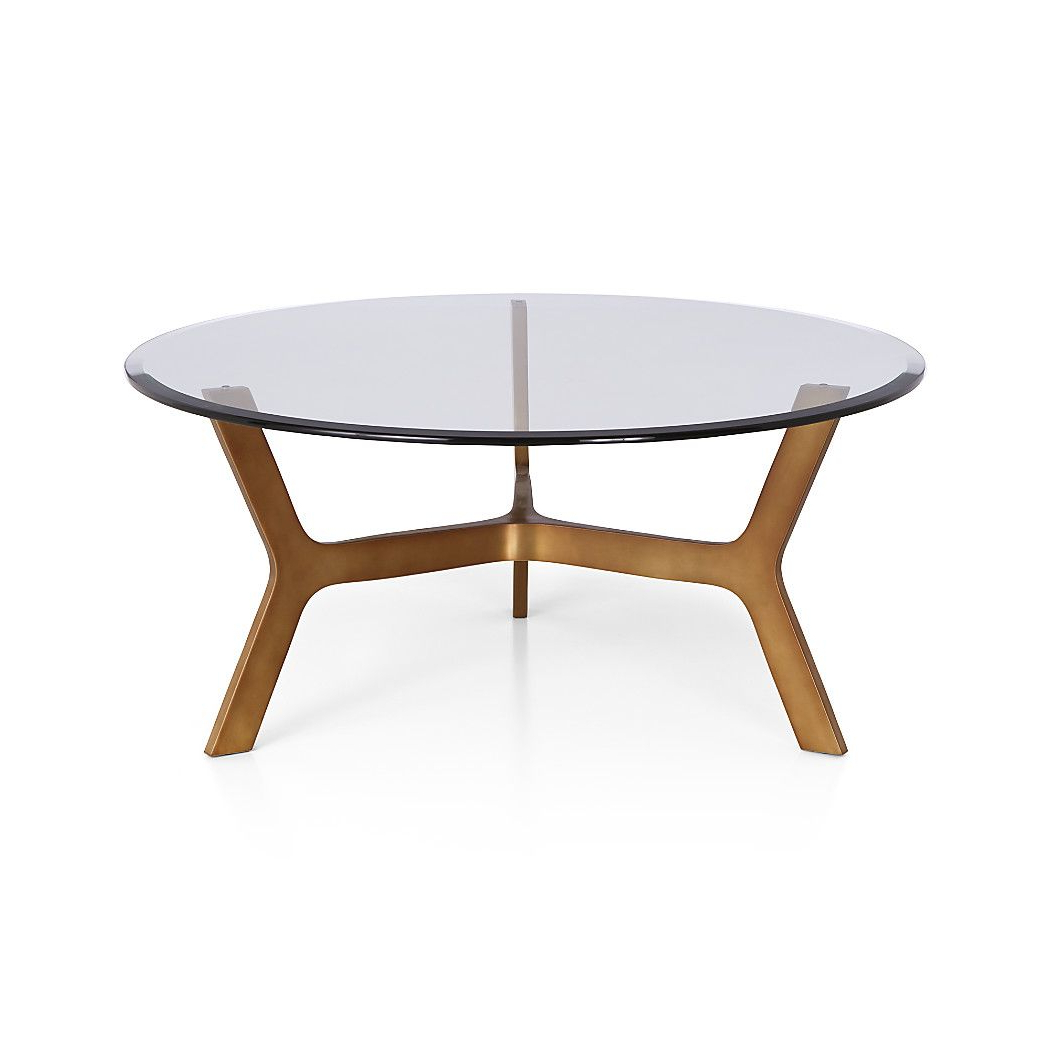About Us | Furniture | Pinterest | Table, Round Glass Coffee Table Intended For Elke Glass Console Tables With Polished Aluminum Base (View 1 of 20)
