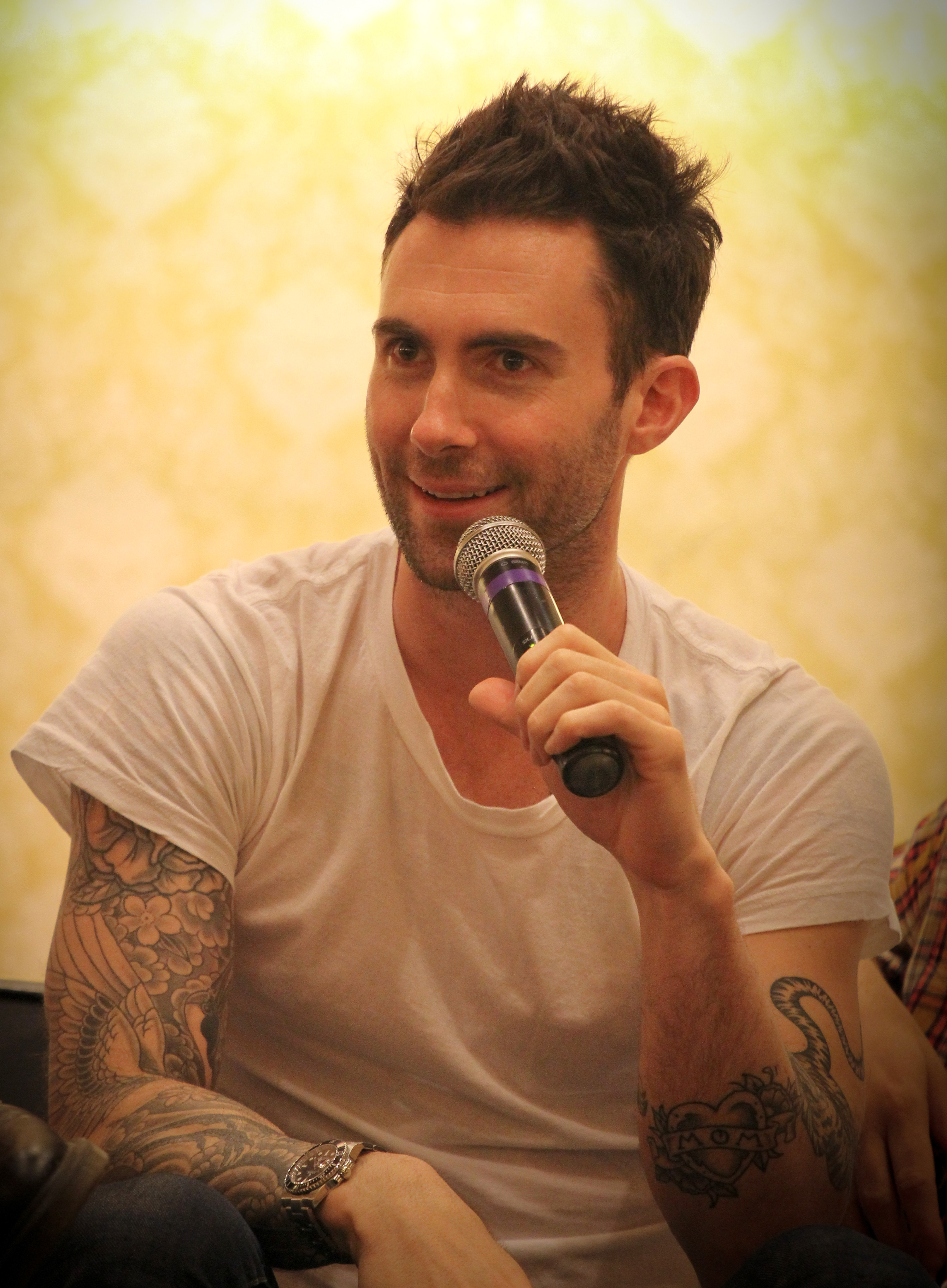 Adam Levine – Wikipedia Intended For Noah Aged Whiskey 66 Inch Tv Stands (View 1 of 20)