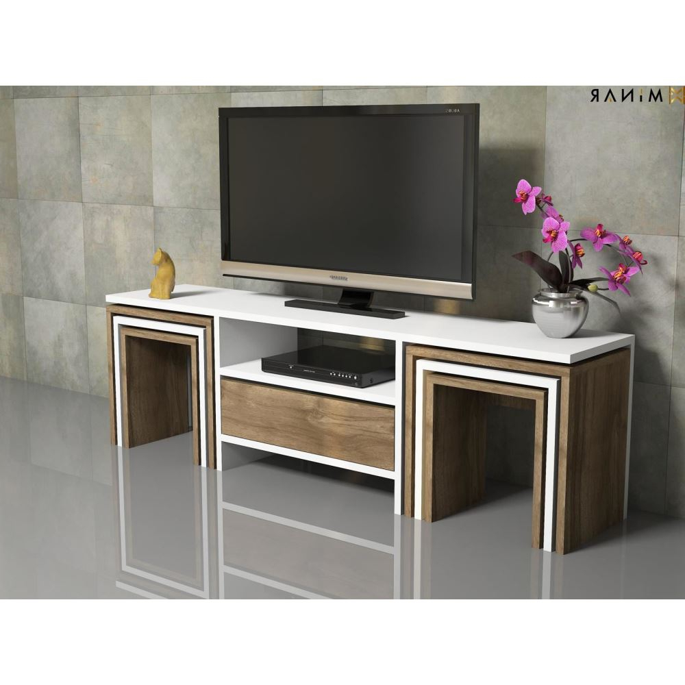 Ahşap Tv Sehpaları Ve Tv Ünite Modelleri Tekzen'de! For Ducar 64 Inch Tv Stands (View 2 of 20)
