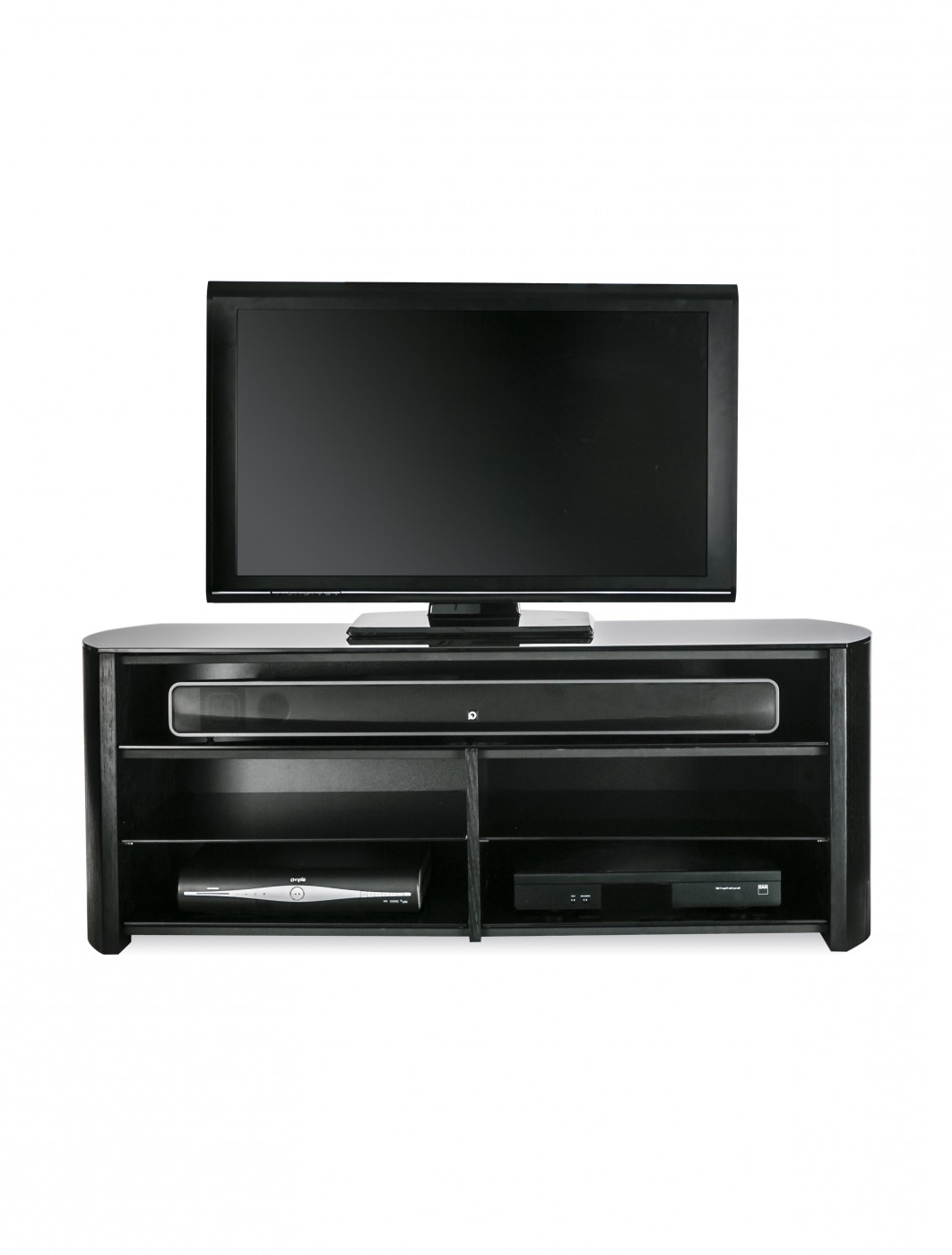 Alphason Fw1350Sb Blk Finewoods Tv Stand | 121 Tv Mounts With Forma 65 Inch Tv Stands (View 2 of 20)