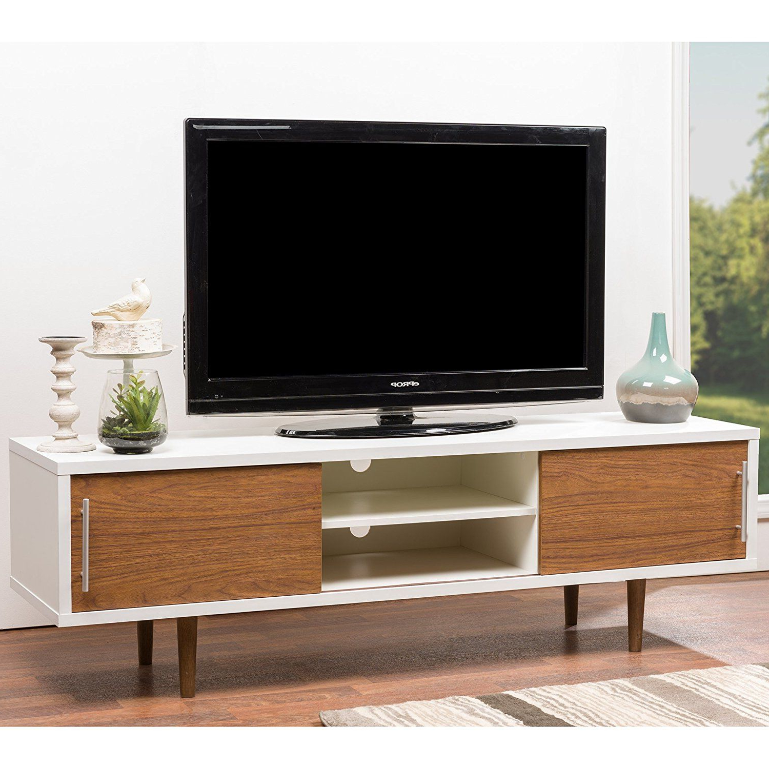 Amazon: Wholesale Interiors Baxton Studio Beasley Tv Cabinet With Regarding Dixon White 58 Inch Tv Stands (View 5 of 20)
