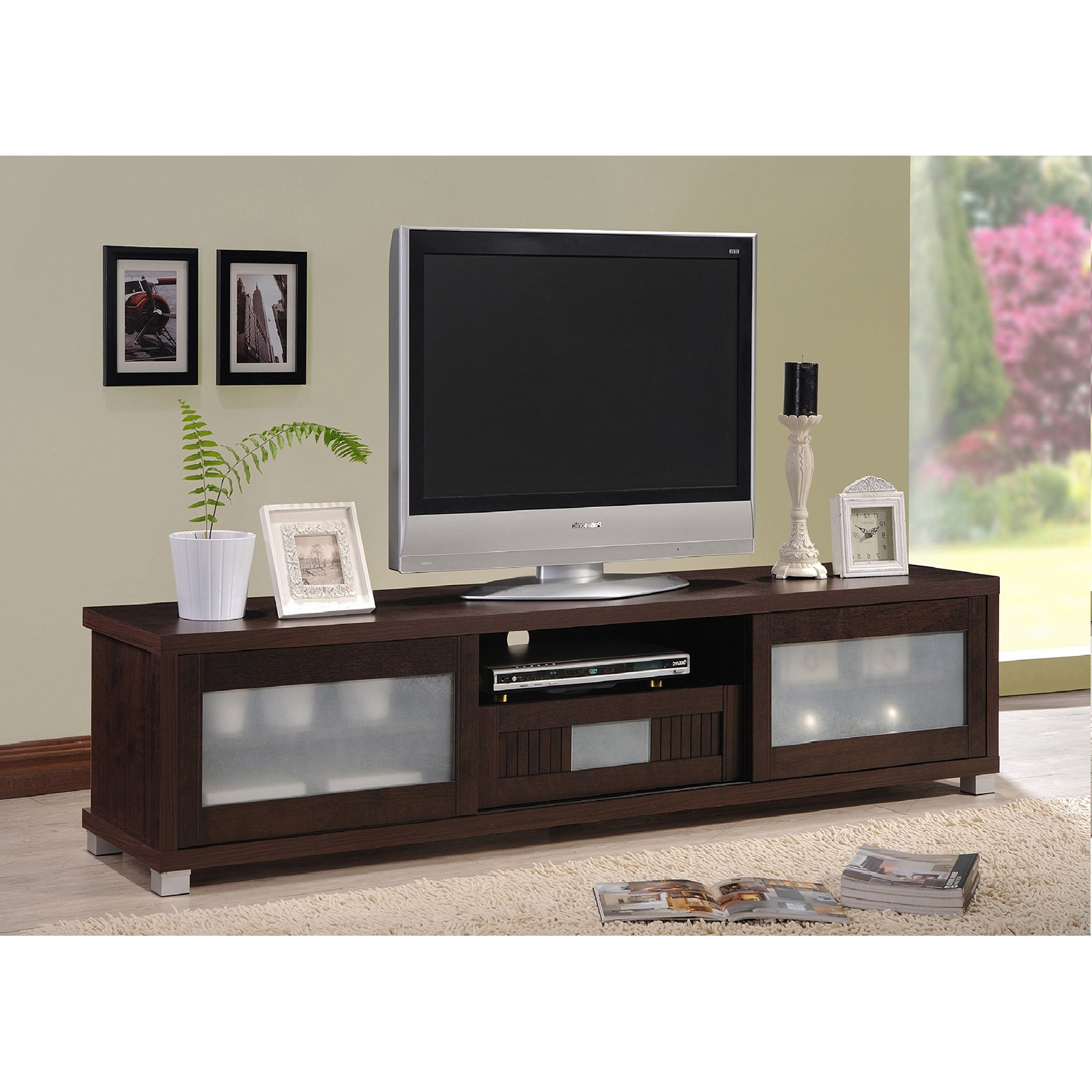 Amazon: Wholesale Interiors Baxton Studio Beasley Tv Cabinet With Regarding Dixon White 58 Inch Tv Stands (View 4 of 20)