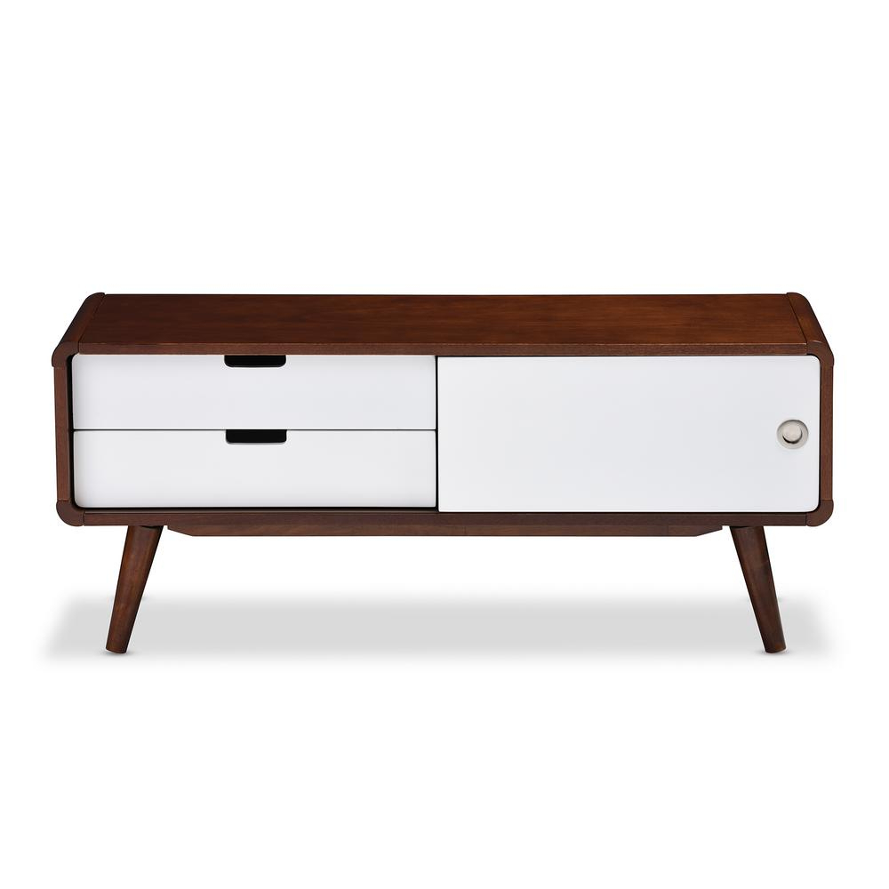 Amazon: Wholesale Interiors Baxton Studio Beasley Tv Cabinet With Throughout Dixon White 58 Inch Tv Stands (View 18 of 20)