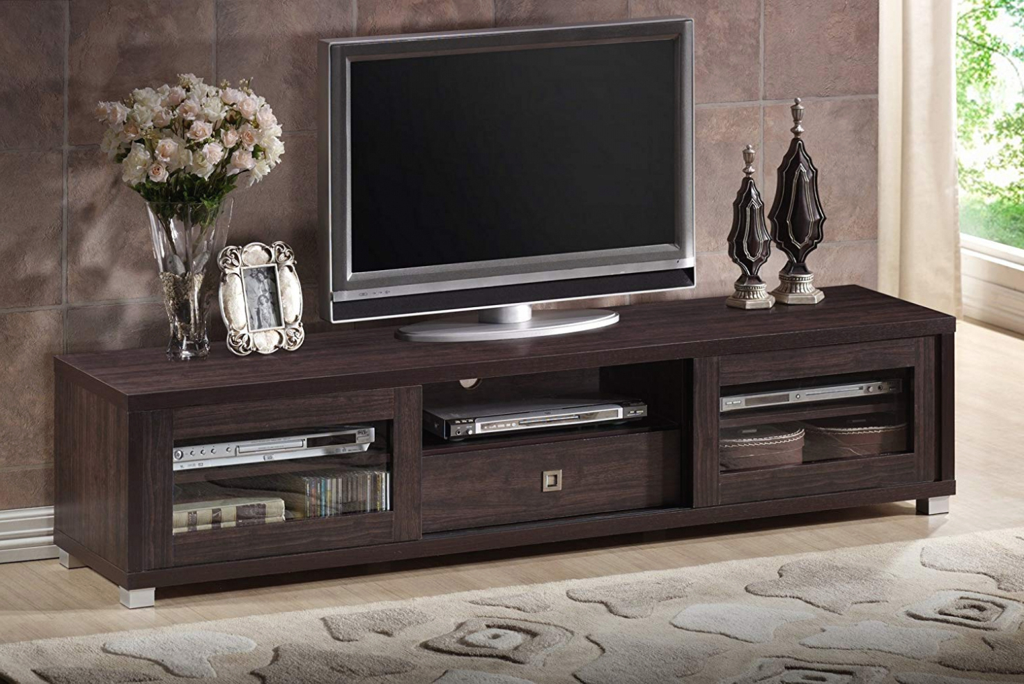 Amazon: Wholesale Interiors Baxton Studio Beasley Tv Cabinet With Within Dixon White 58 Inch Tv Stands (View 8 of 20)