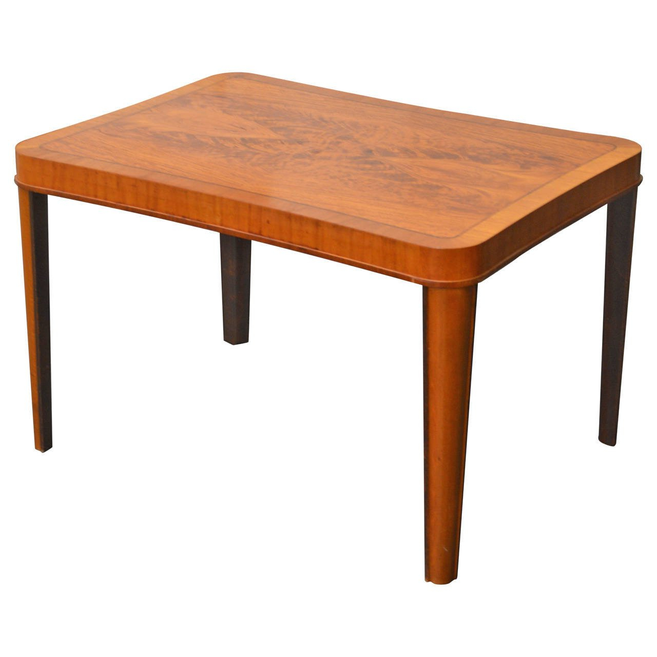 American Period Art Moderne Walnut Coffee Table For Sale At 1stdibs Within Intarsia Console Tables (View 5 of 20)