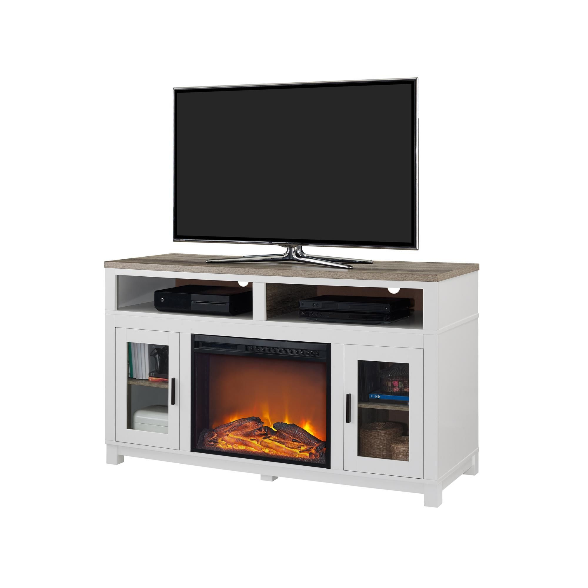 Ameriwood Home Carver Electric Fireplace Tv Stand For Tvs Up To 60 For Oxford 60 Inch Tv Stands (Gallery 15 of 20)