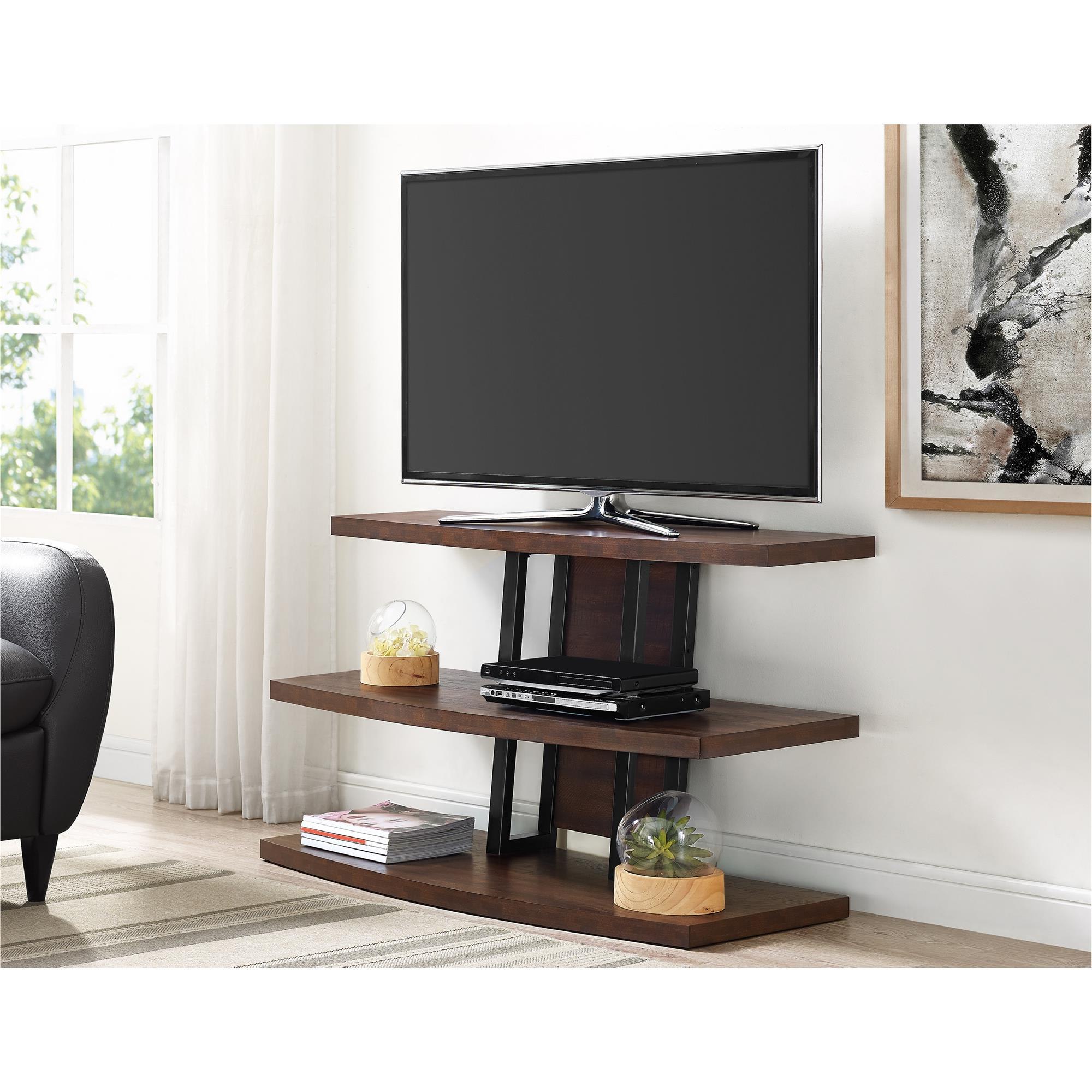 "Ameriwood Home Castling Tv Stand For Tvs Up To 55"", Espresso Regarding Forma 65 Inch Tv Stands (View 4 of 20)"