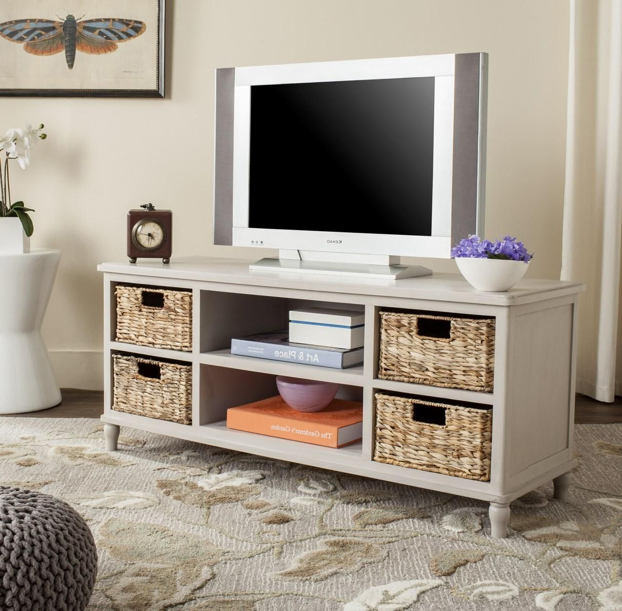 Amh5745D Tv Cabinet – Furniture  Home Decor   Entertainment Throughout Natural Cane Media Console Tables (View 2 of 20)