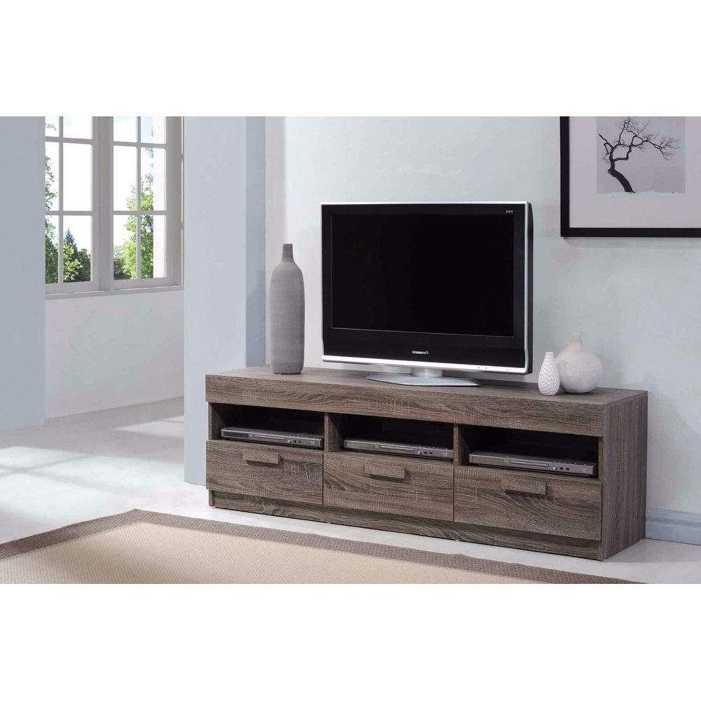 Amiable Tv Stand, Rustic Oak Brown – Free Shipping Today – Overstock With Wyatt 68 Inch Tv Stands (Gallery 19 of 20)