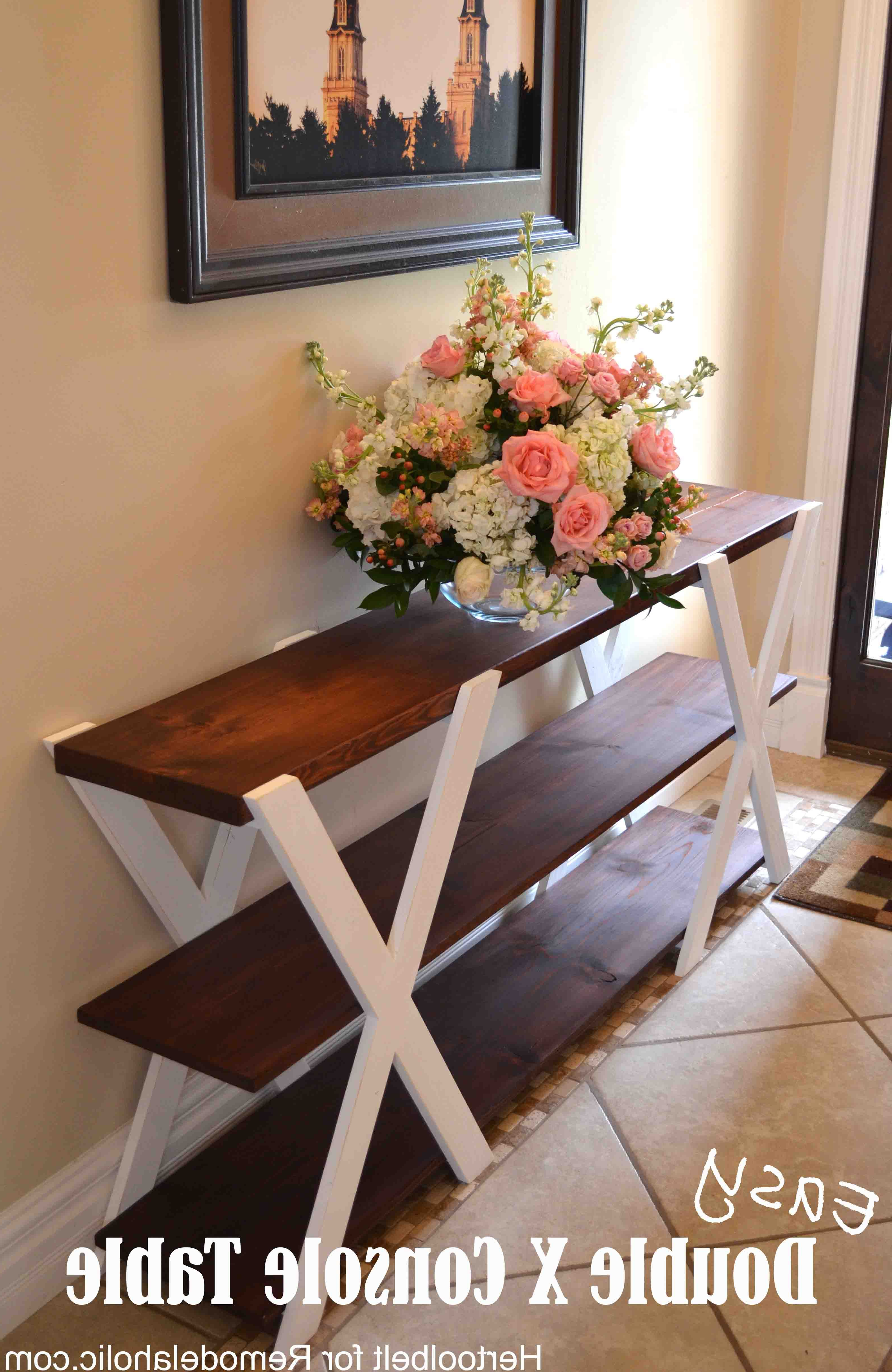 An Easy Build, Diy Double X Console Table For Your Entryway (View 4 of 20)