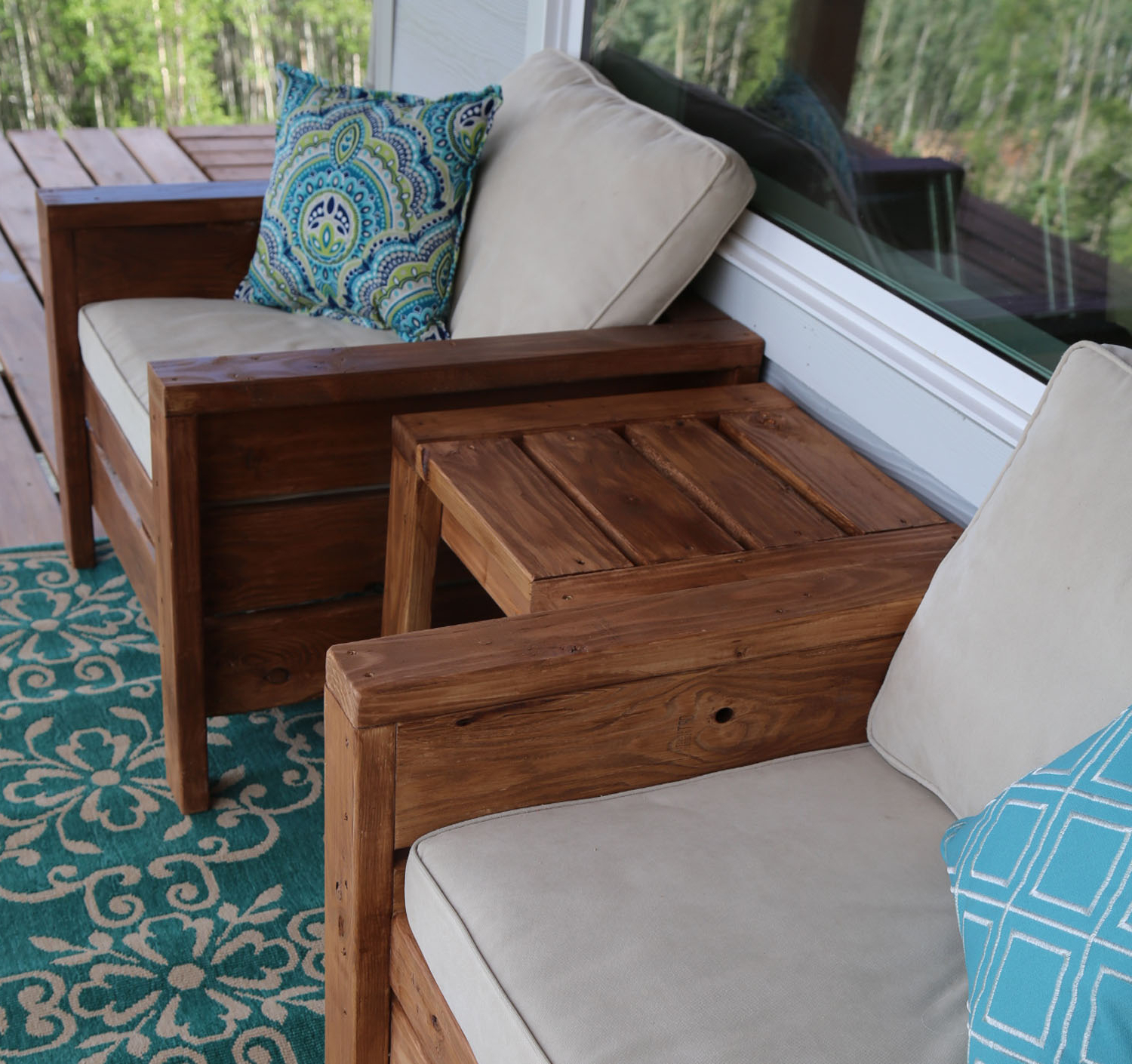 Ana White | Modern Outdoor Chair From 2X4S And 2X6S – Diy Projects Inside Chari Media Center Tables (Gallery 16 of 20)