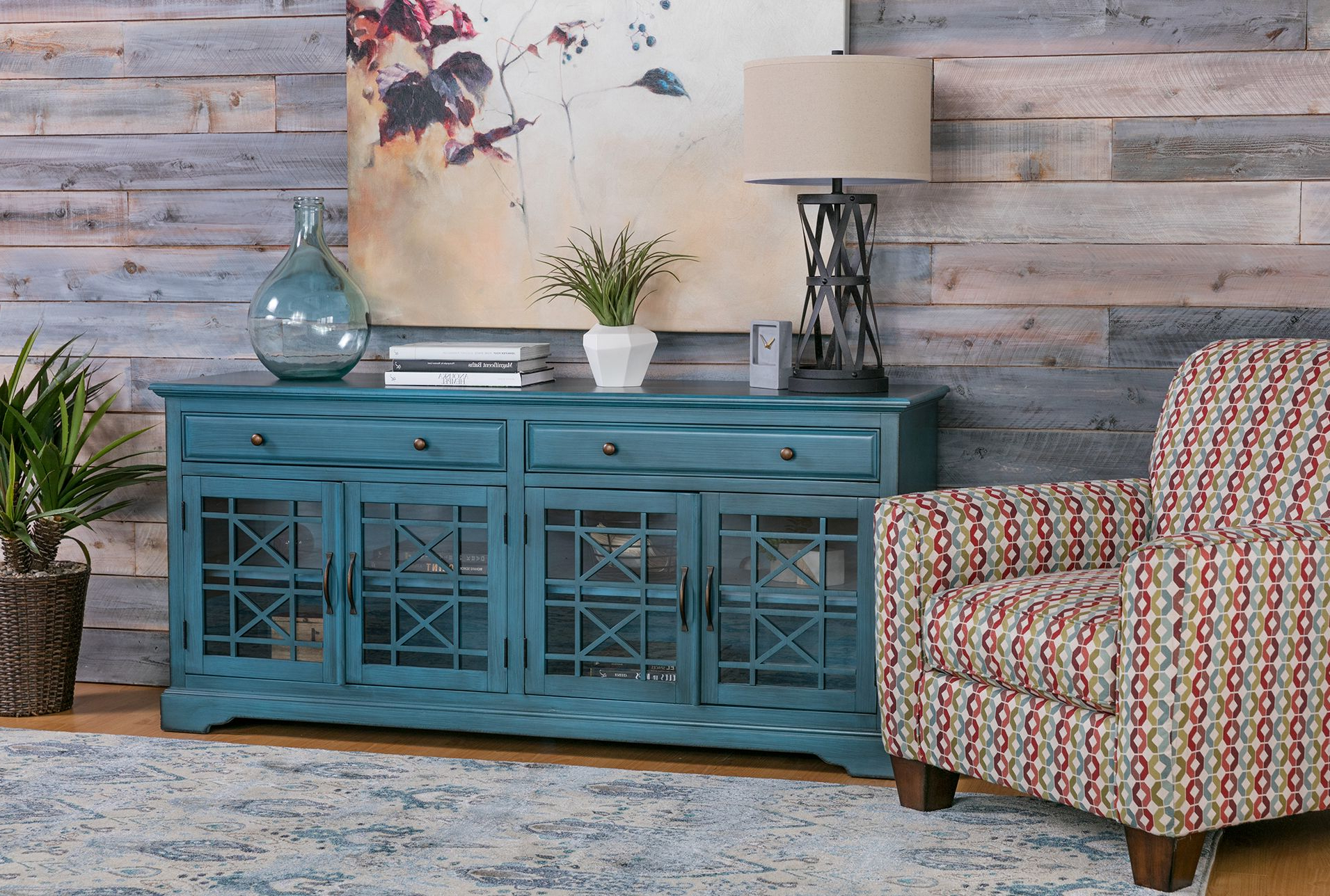 Featured Photo of Annabelle Blue 70 Inch Tv Stands