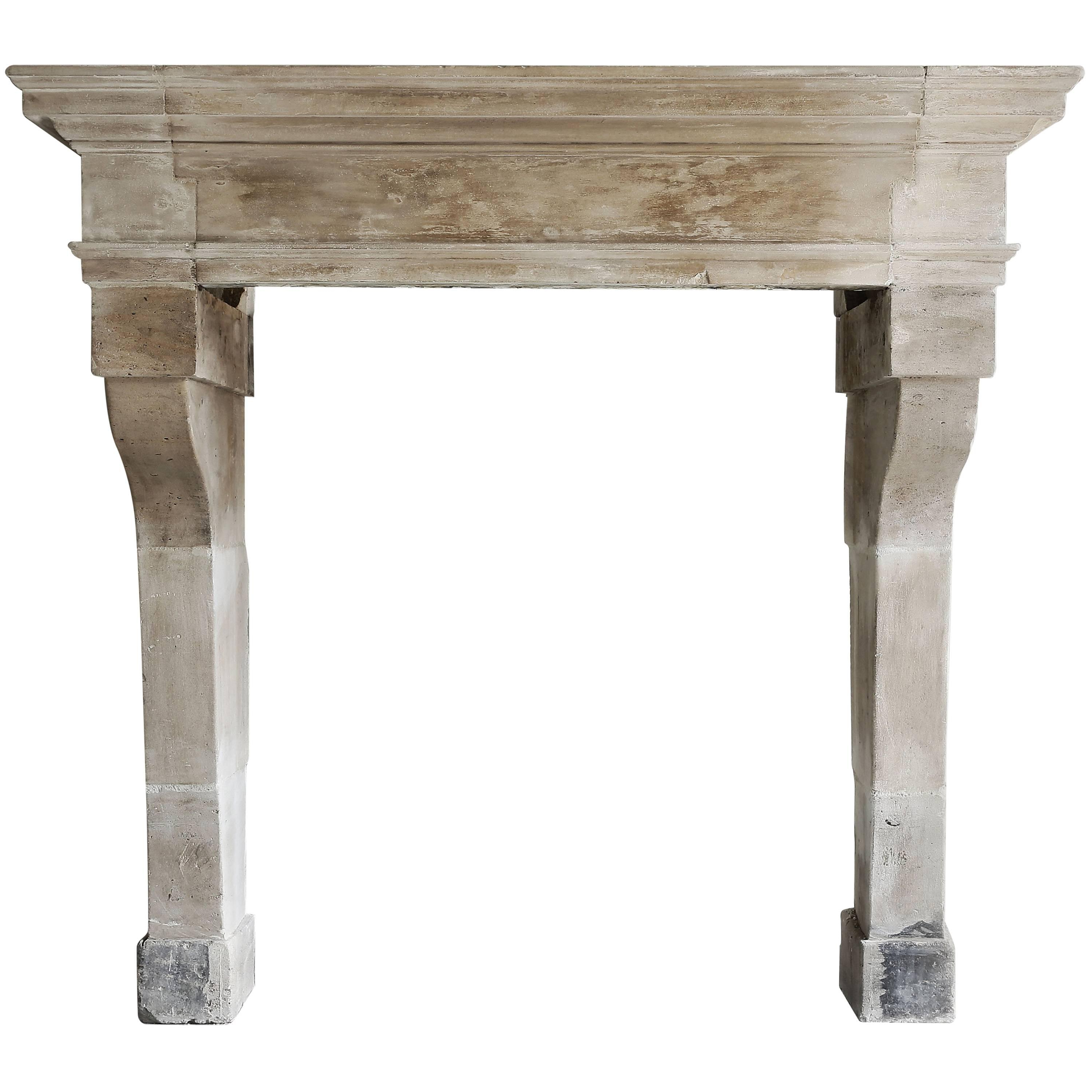 Antique French Fireplace From The Era Of Louis Xiii For Sale At 1stdibs Regarding Era Limestone Console Tables (View 19 of 20)