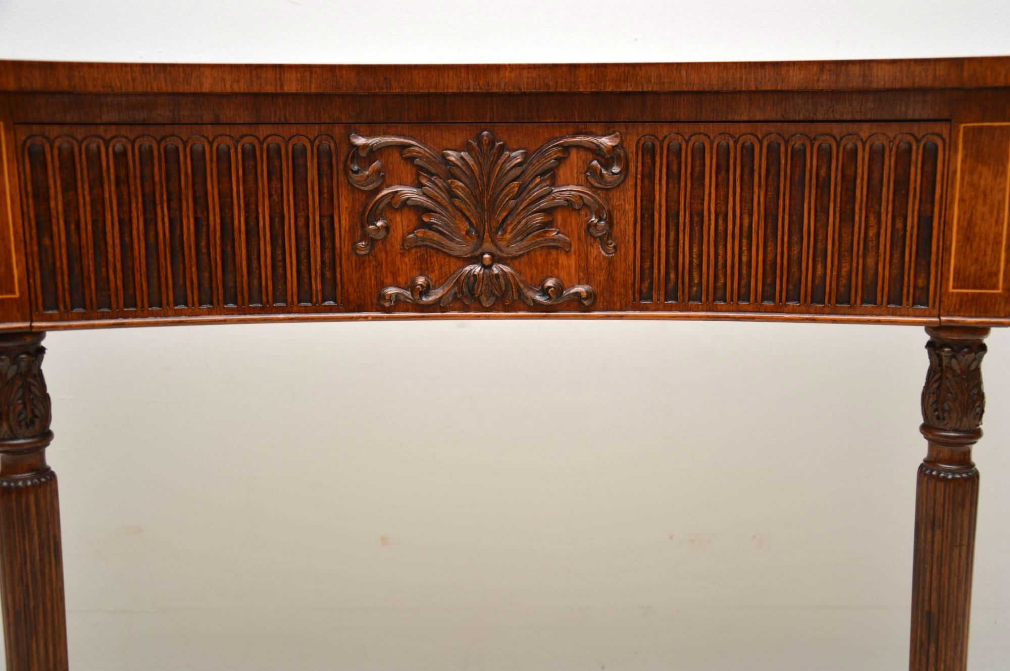 Antique Inlaid Mahogany & Kingwood Server Console Table (1930 To Regarding Orange Inlay Console Tables (Gallery 17 of 20)