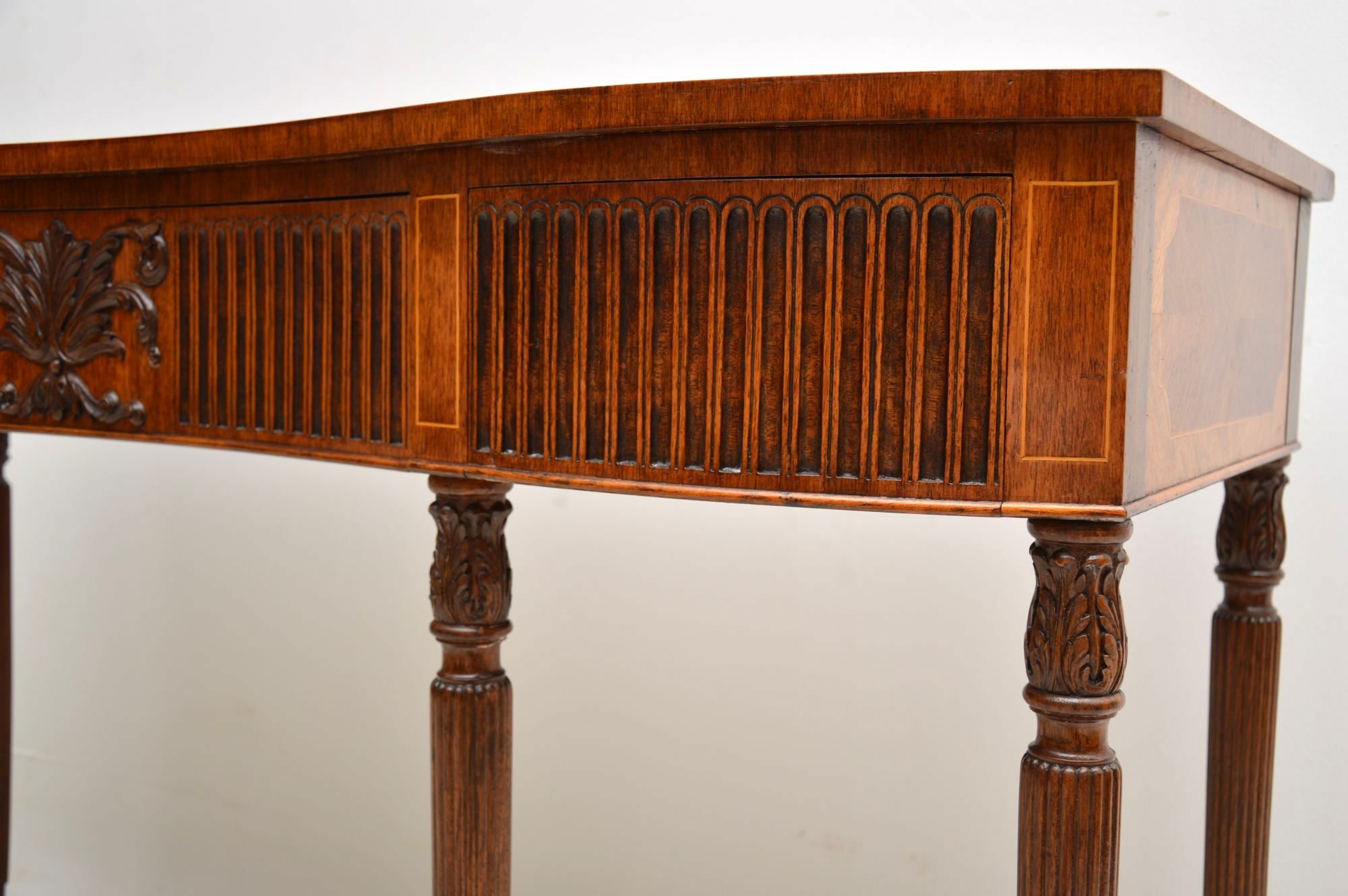 Antique Inlaid Mahogany & Kingwood Server Console Table | Marylebone With Orange Inlay Console Tables (Gallery 13 of 20)
