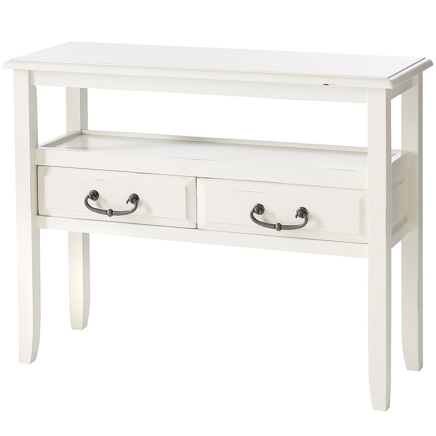 Anywhere Antique White Console Table With Pull Handles | Home Sweet Throughout Switch Console Tables (Gallery 6 of 20)